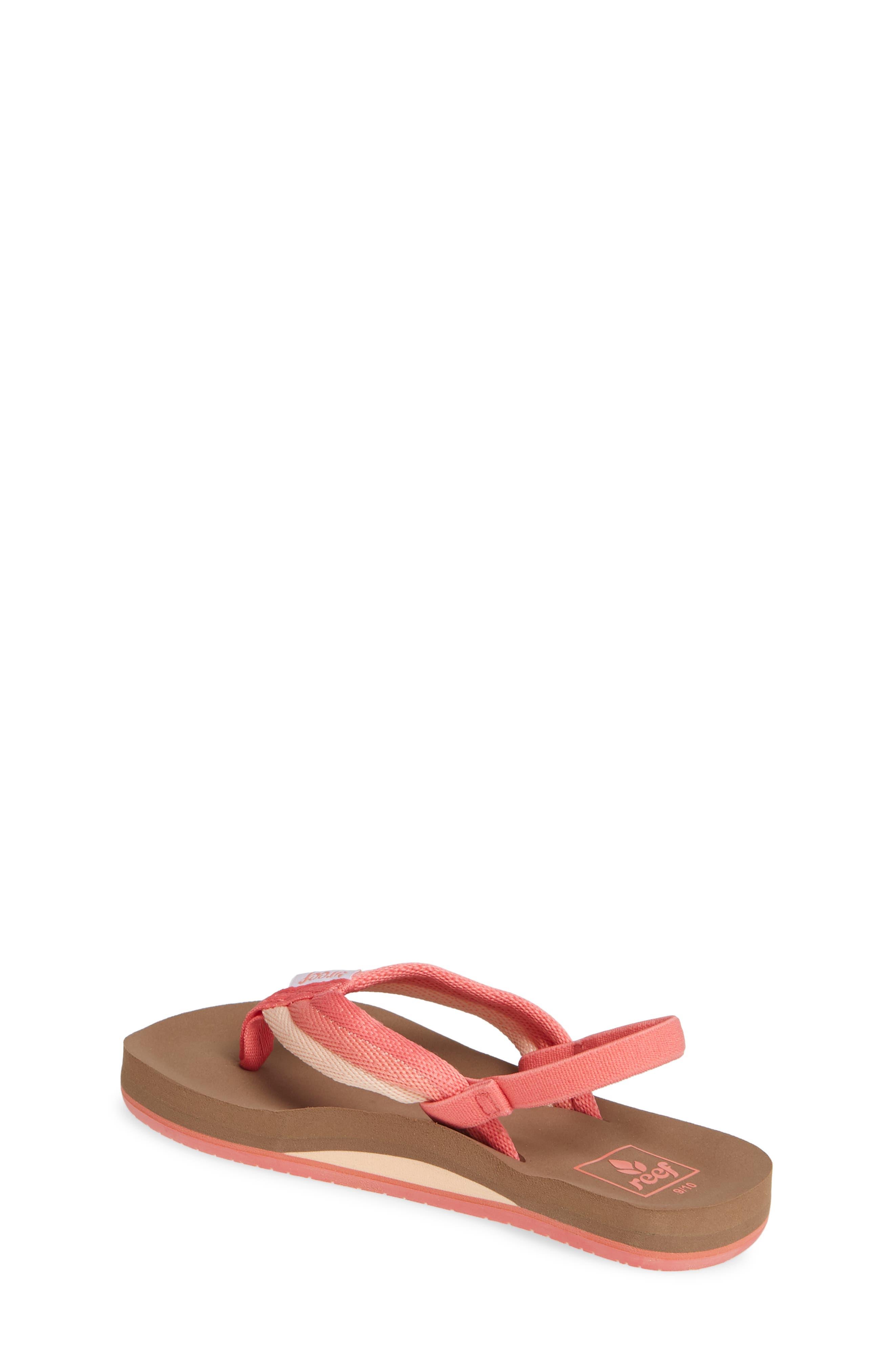 REEF, Little Ahi Beach Thong Sandal, Alternate thumbnail 2, color, RASPBERRY