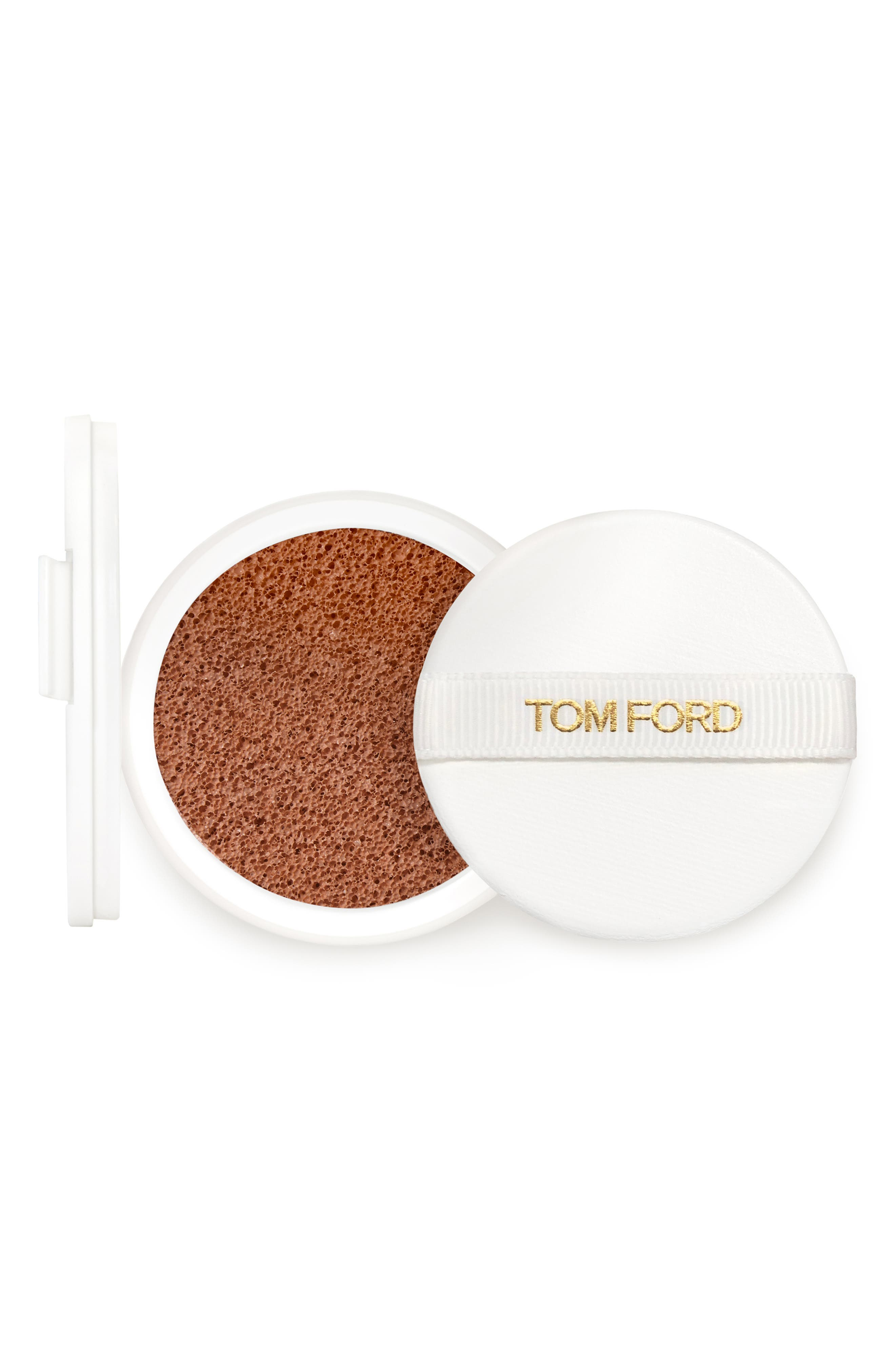 TOM FORD, Soleil Glow Up Foundation SPF 45 Hydrating Cushion Compact Refill, Main thumbnail 1, color, 9.0 DEEP BRONZE