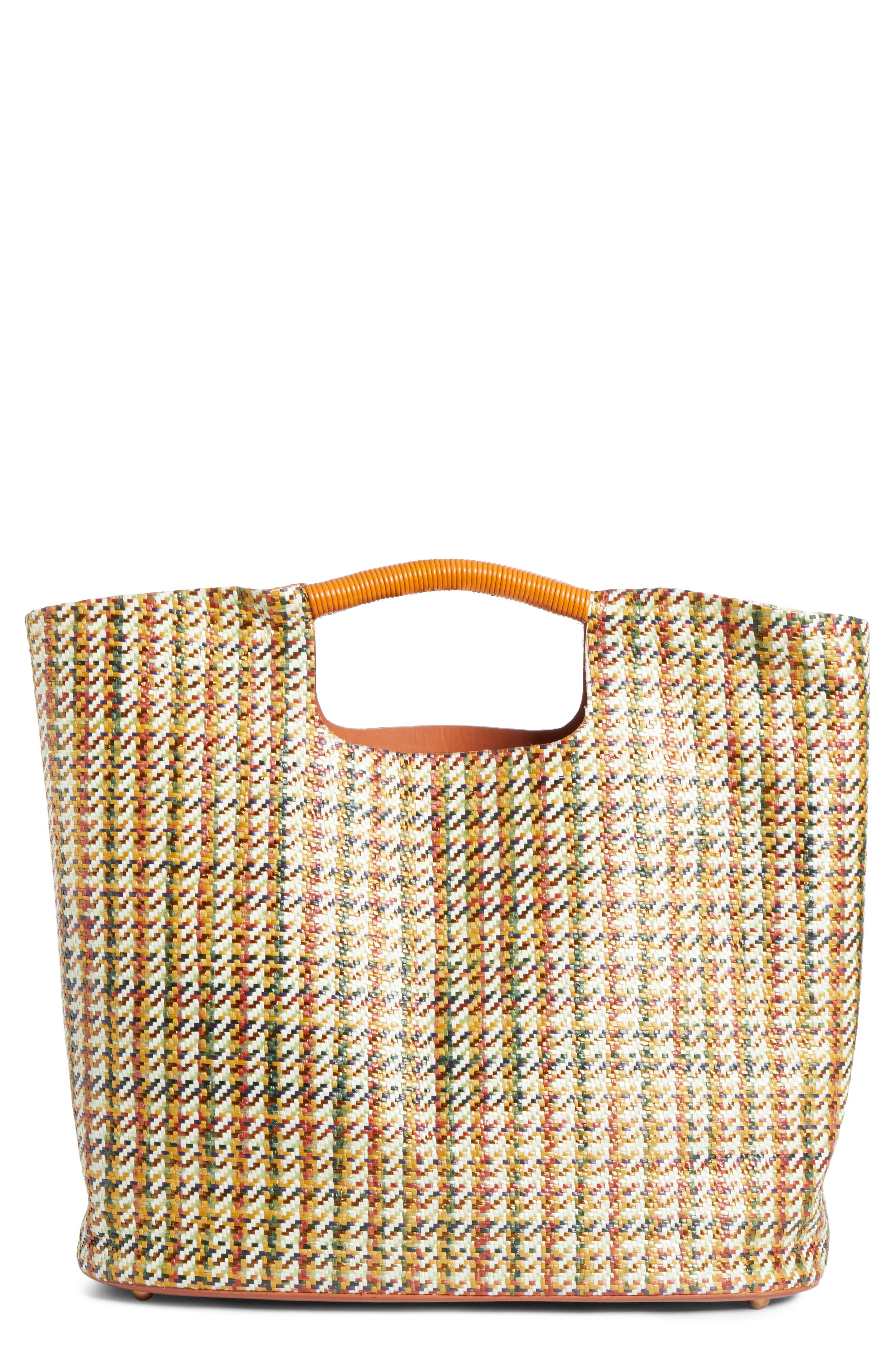 SIMON MILLER, Large Birch Houndstooth Tote, Main thumbnail 1, color, 200
