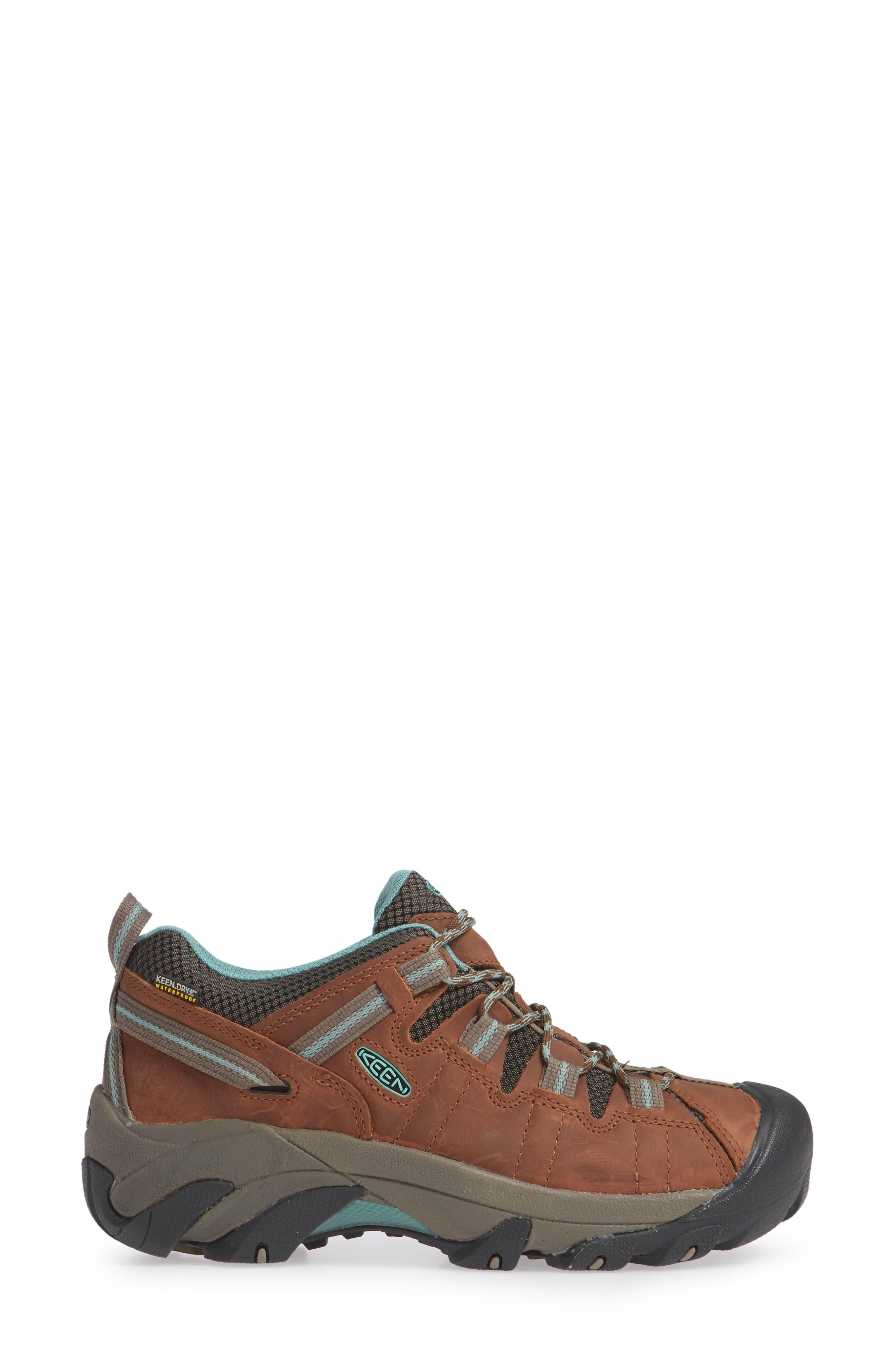 KEEN, 'Targhee II' Walking Shoe, Alternate thumbnail 3, color, DARK EARTH/ WASABI NUBUCK