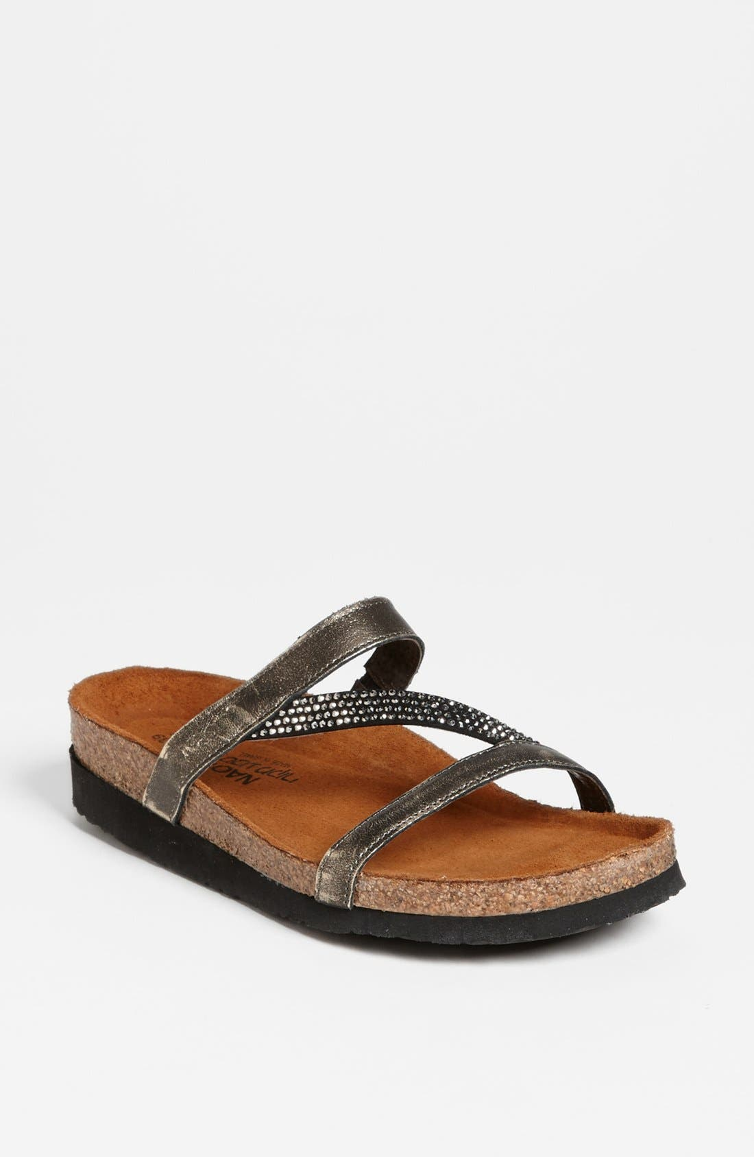 NAOT 'Hawaii' Sandal, Main, color, SILVER LEATHER