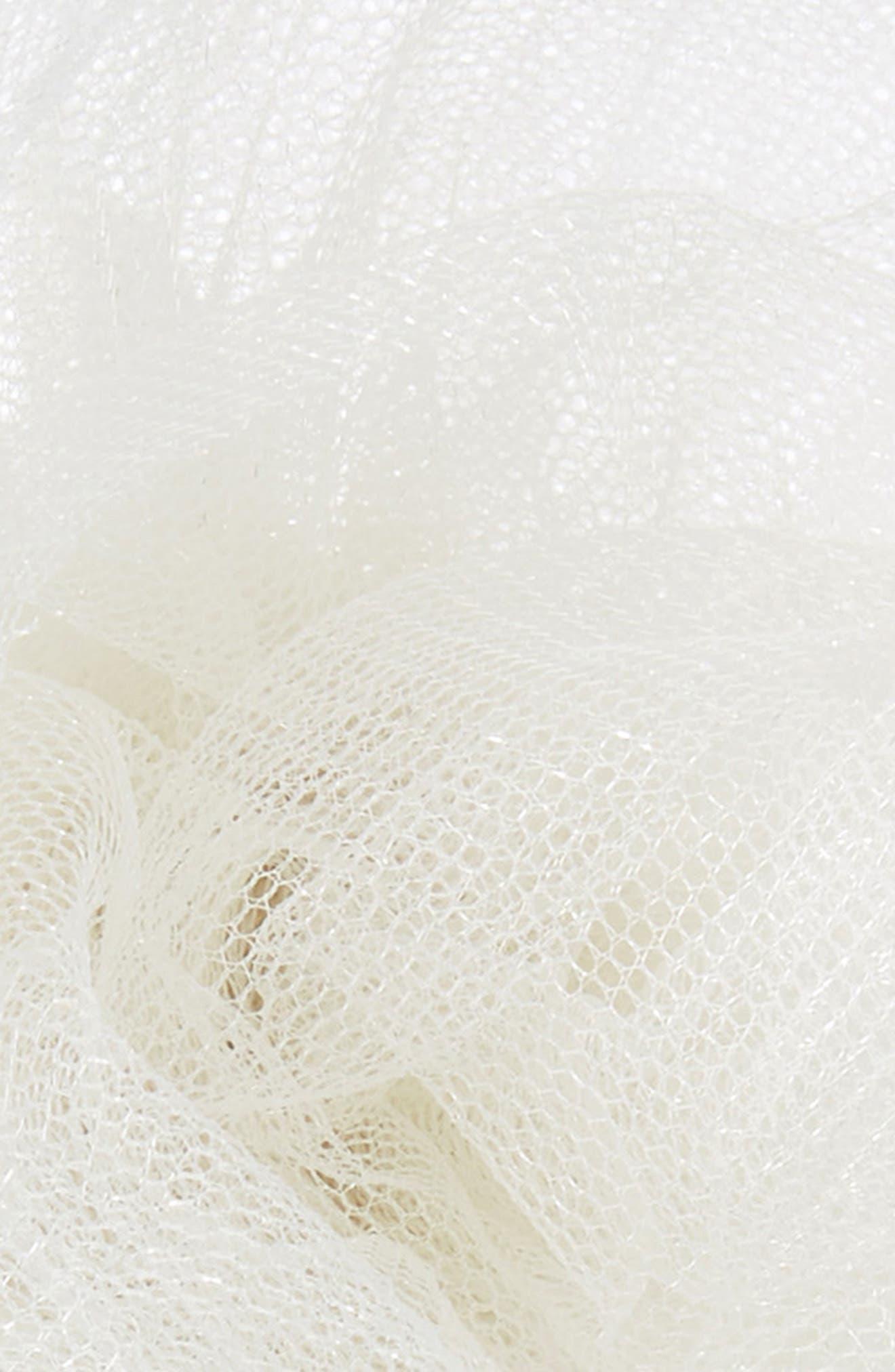 CARA, Glitter Mesh Flower Headband, Alternate thumbnail 2, color, 900