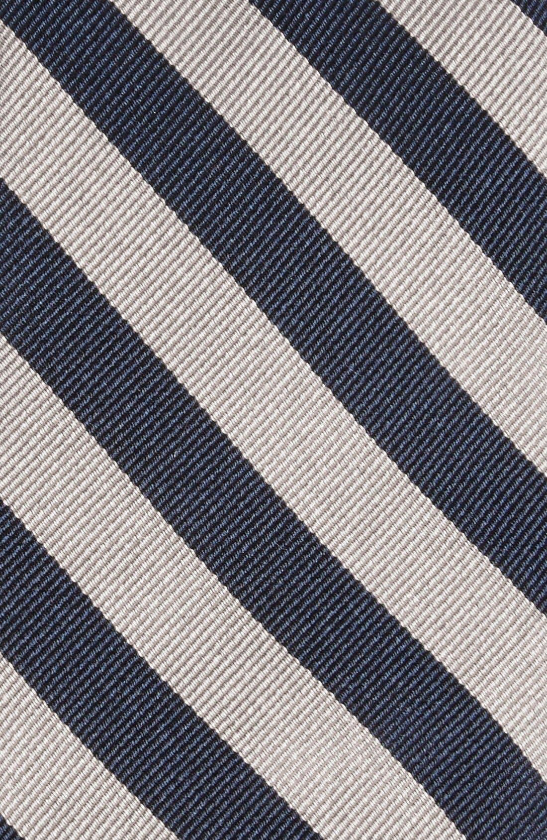 GITMAN, Stripe Silk Tie, Alternate thumbnail 2, color, GREY