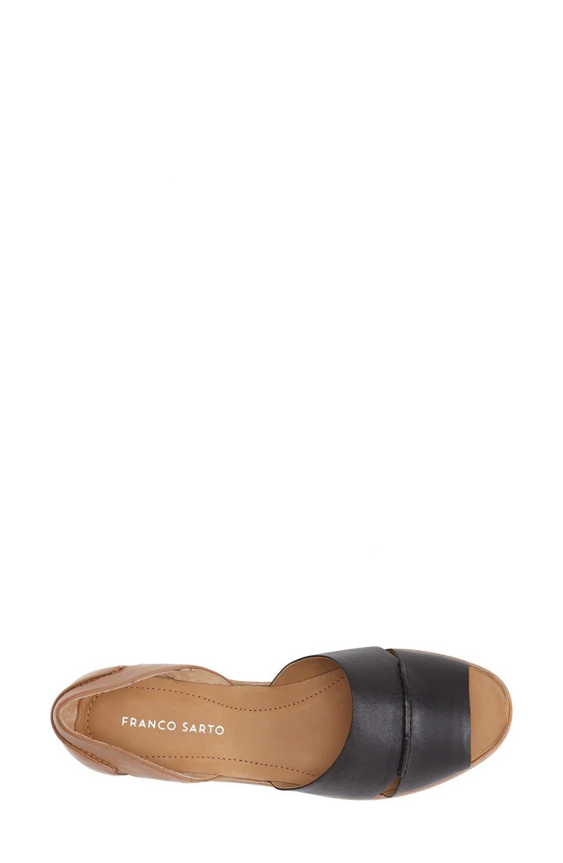FRANCO SARTO, 'Vivace' Leather d'Orsay Flat, Alternate thumbnail 3, color, 002