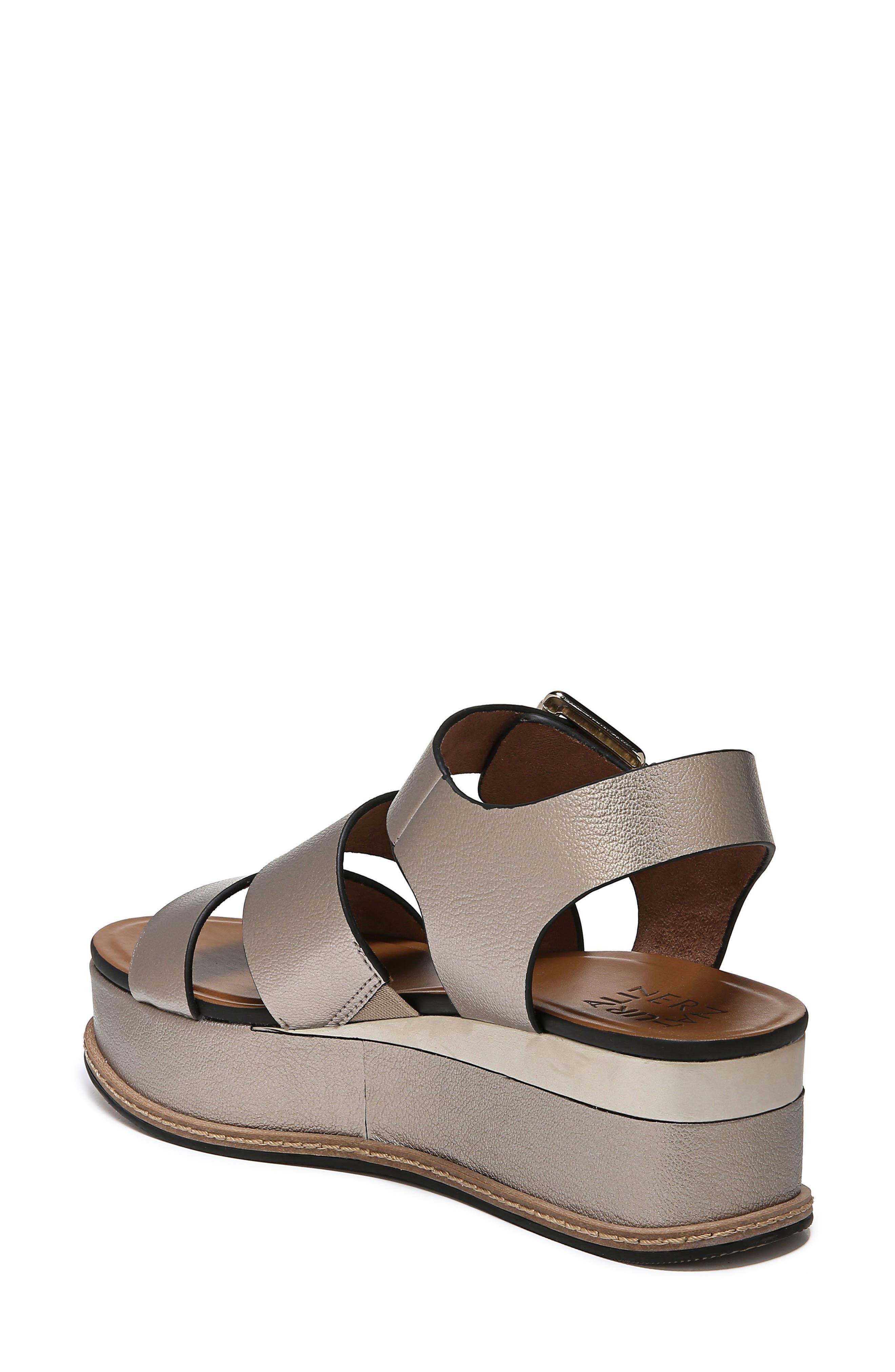 NATURALIZER, Billie Platform Sandal, Alternate thumbnail 2, color, LIGHT BRONZE METAL