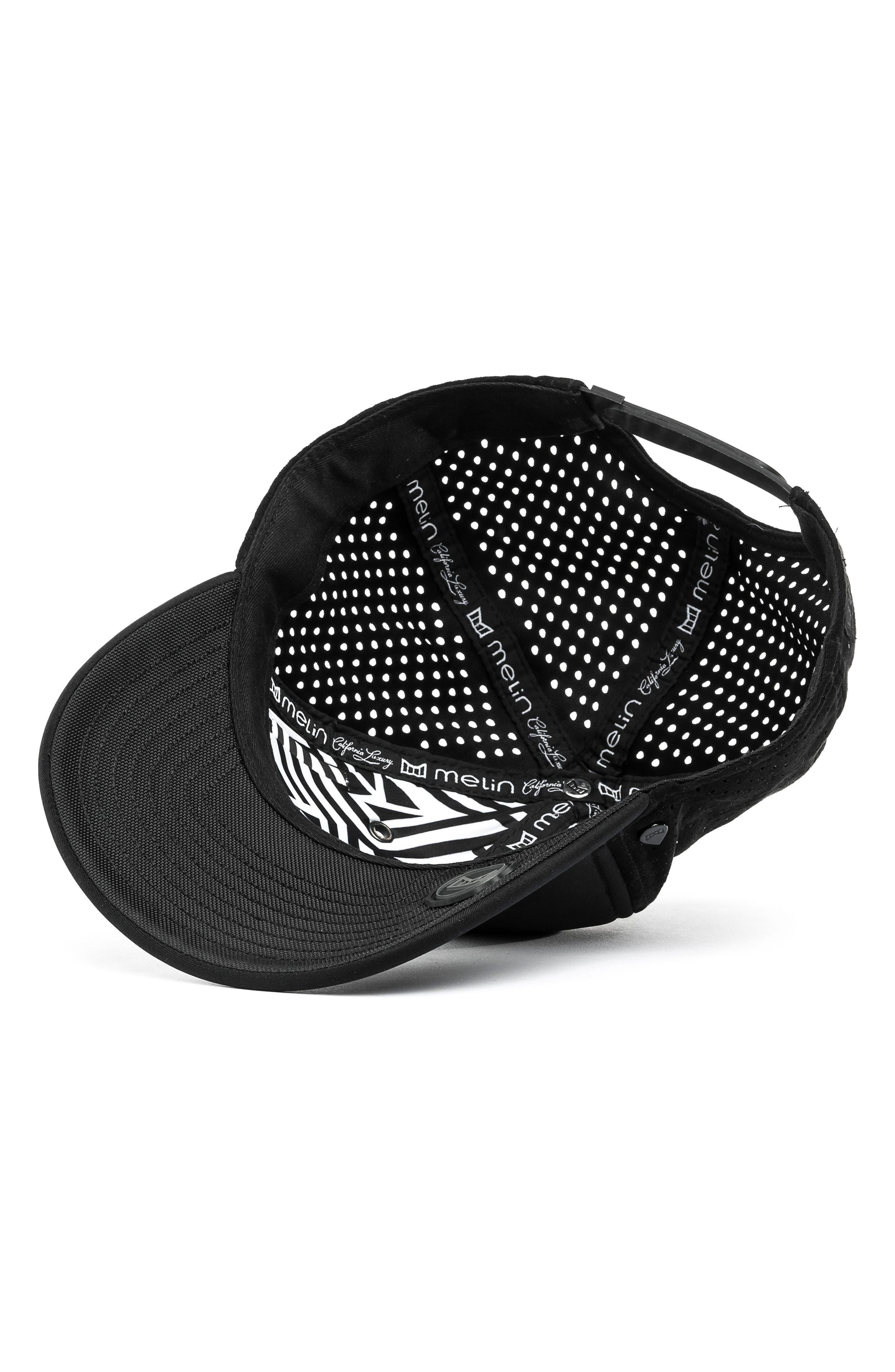 MELIN, Trooper II Snapback Baseball Cap, Alternate thumbnail 4, color, BLACK
