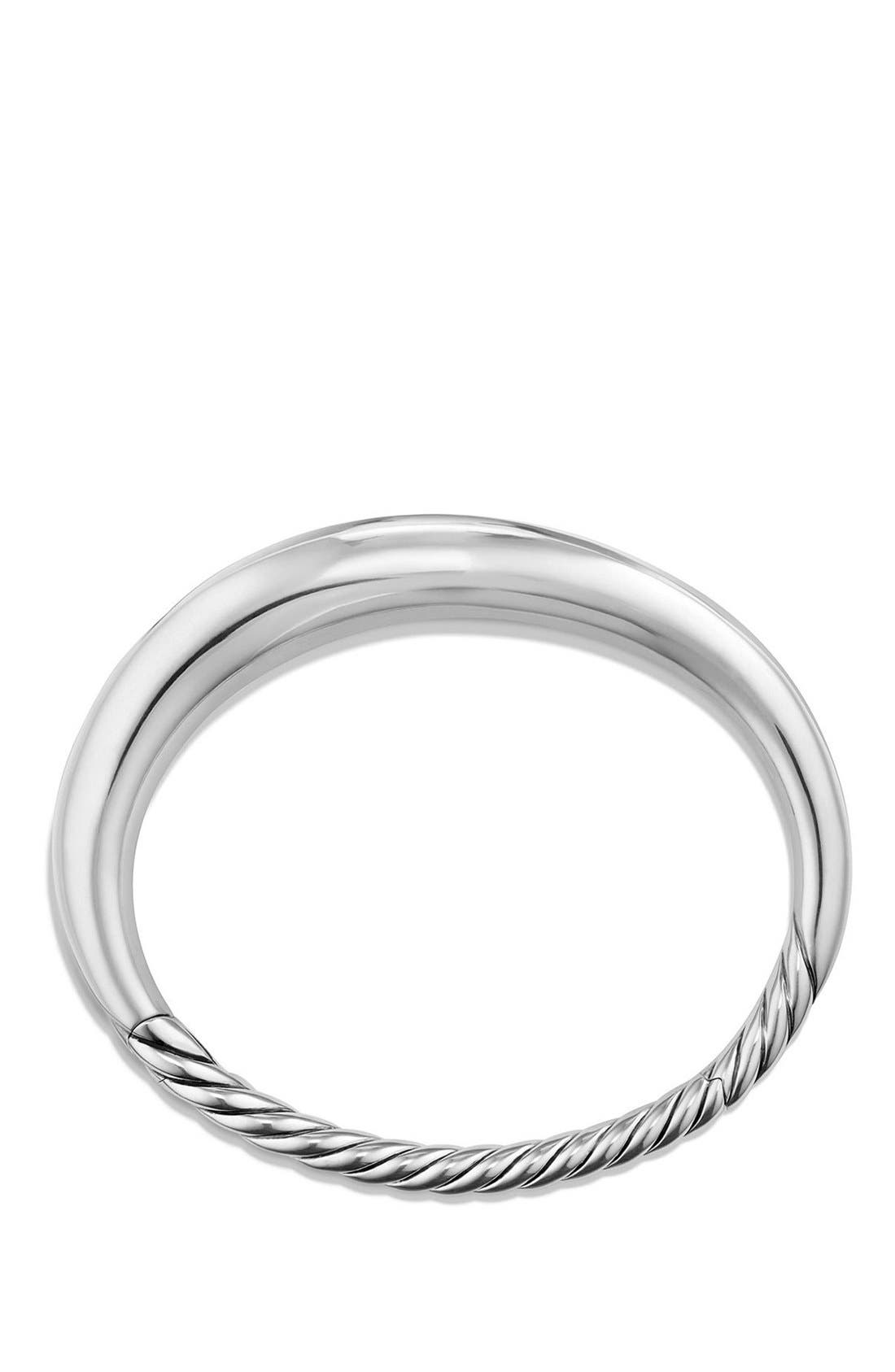 DAVID YURMAN, 'Pure Form' Small Sterling Silver Bracelet, Alternate thumbnail 2, color, SILVER