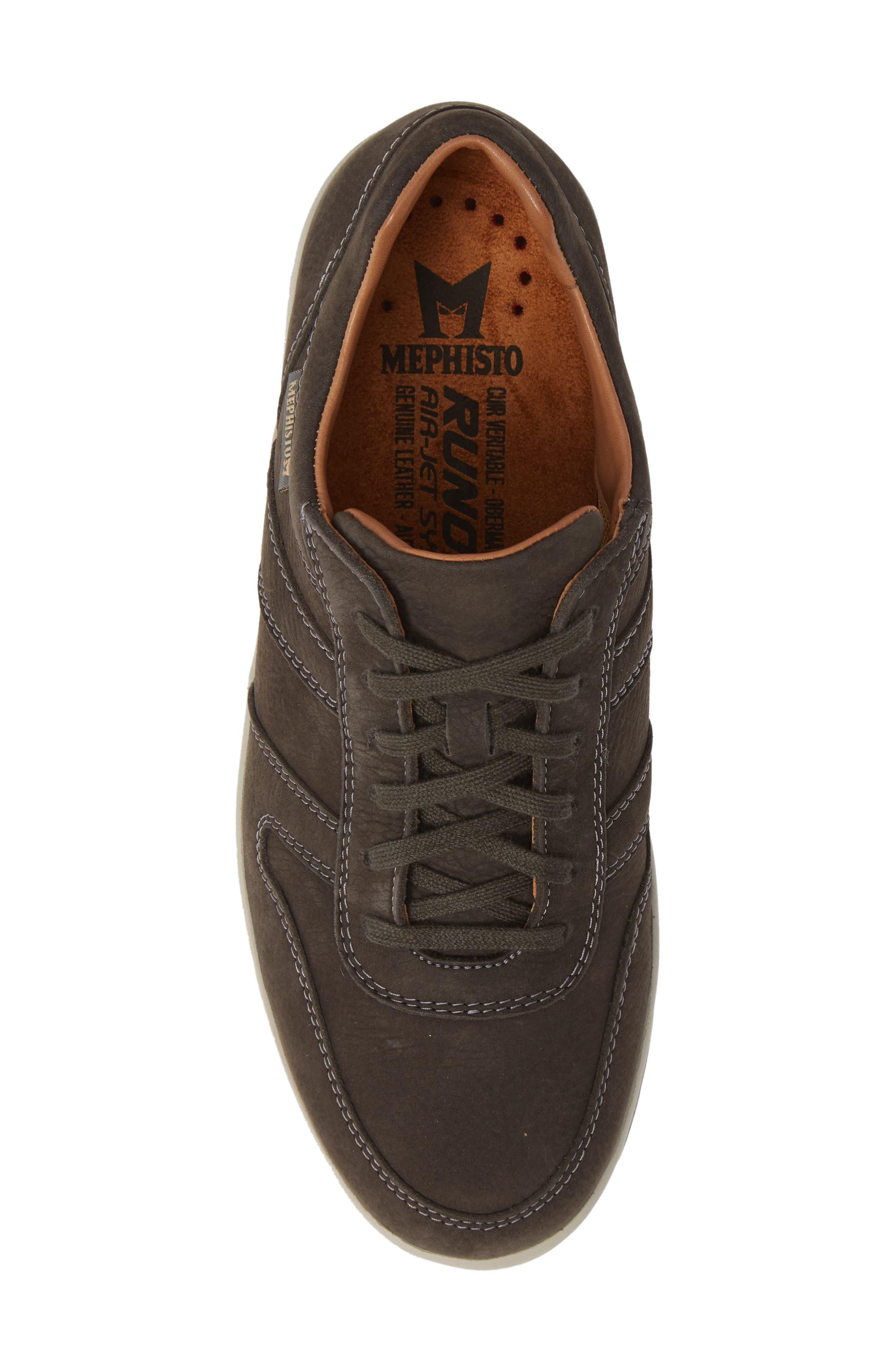 MEPHISTO, Vito Sneaker, Alternate thumbnail 5, color, GRAPHITE SPORTBUCK