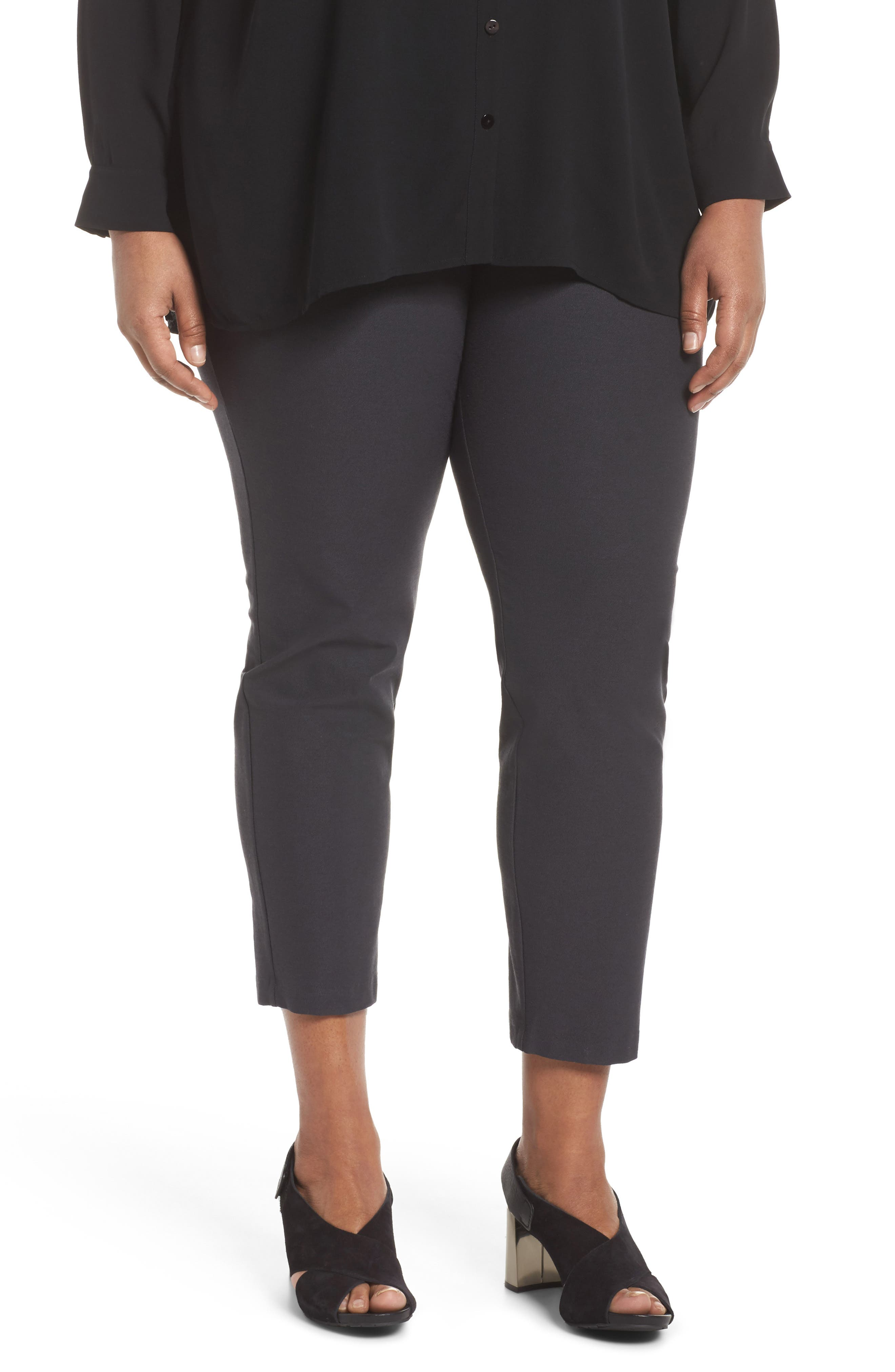 EILEEN FISHER Slim Ankle Pants, Main, color, 025