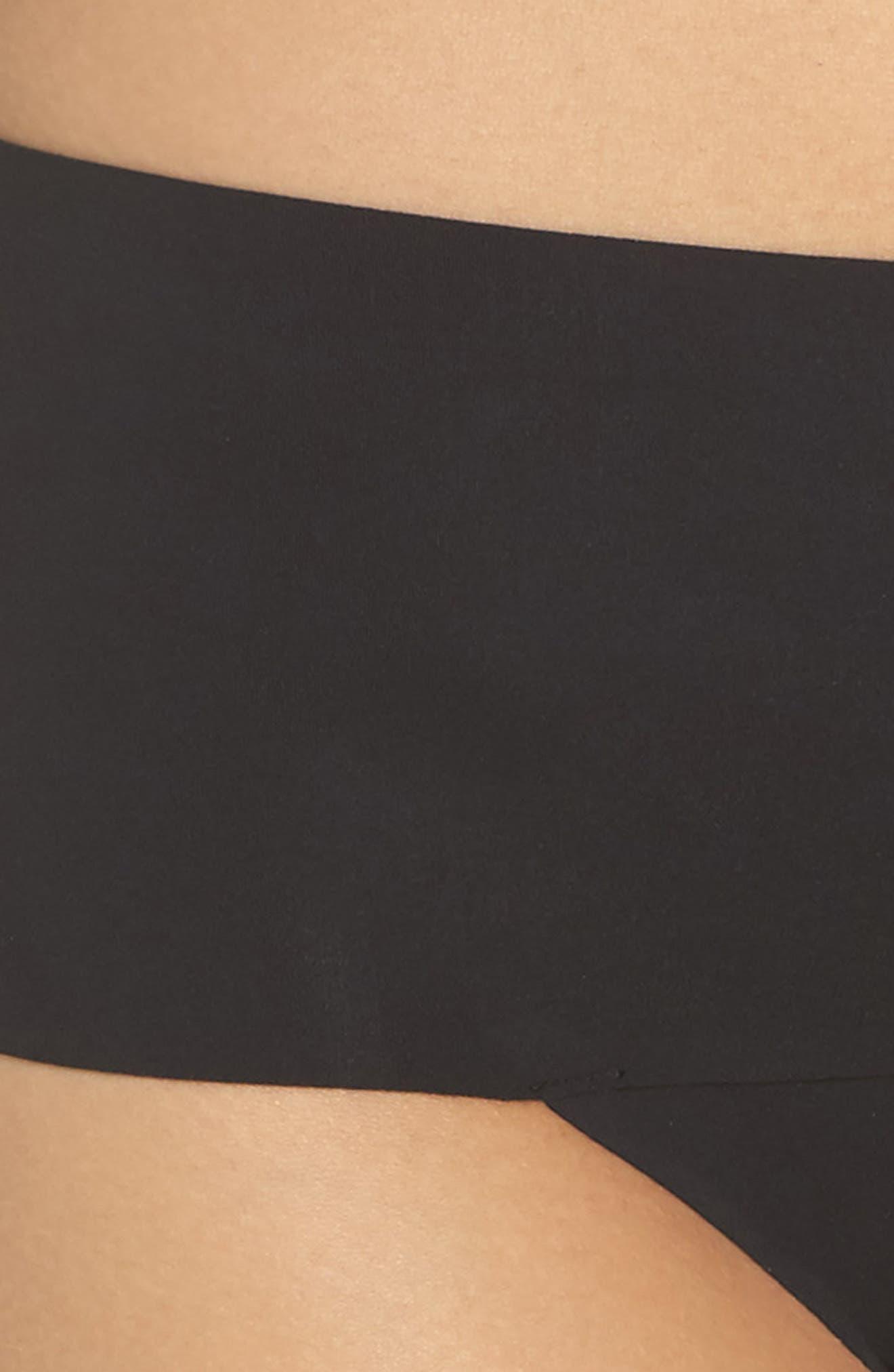 SPANX<SUP>®</SUP>, Undie-tectable Thong, Alternate thumbnail 4, color, VERY BLACK