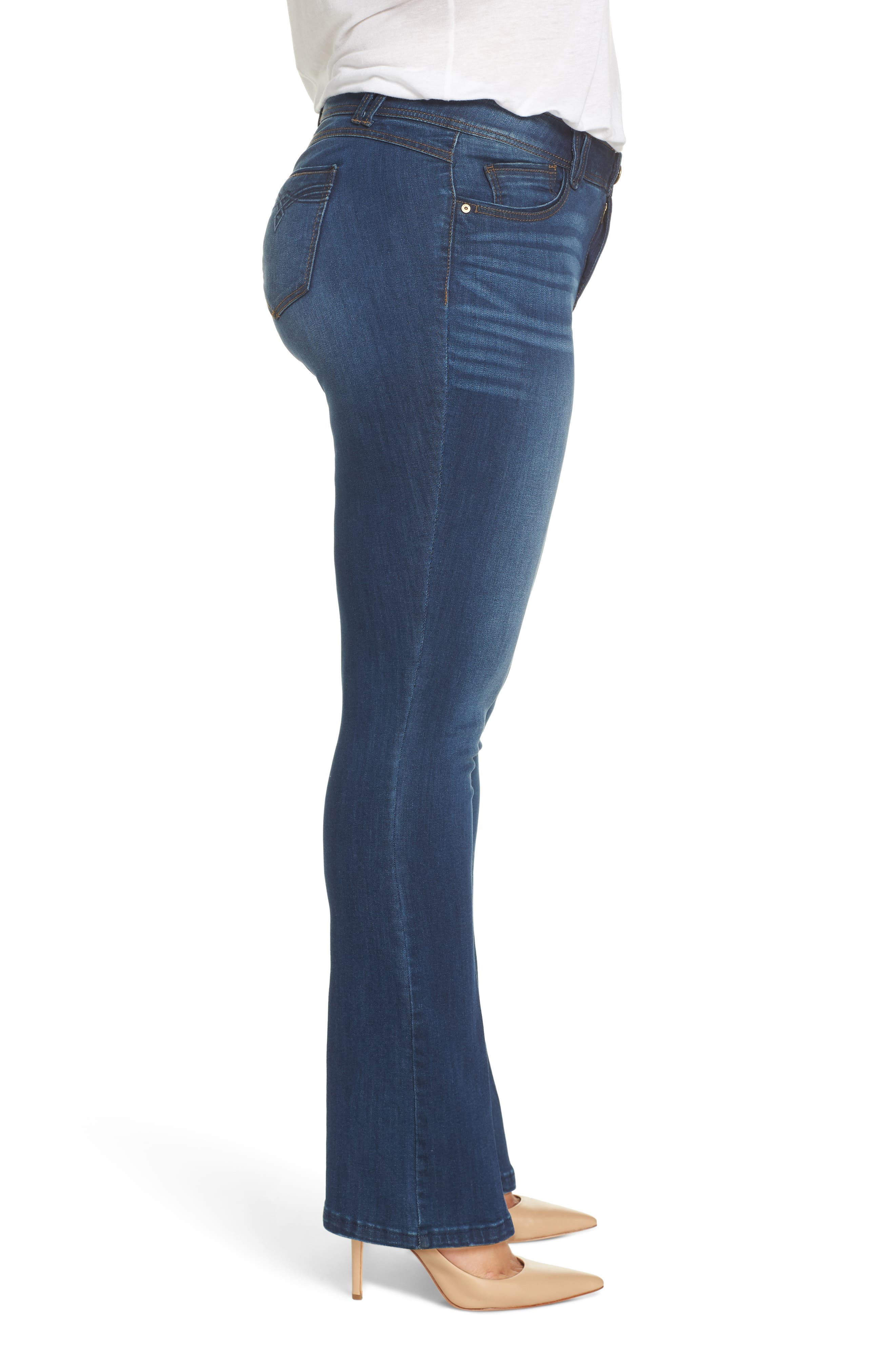 WIT & WISDOM, Ab-Solution Itty Bitty Bootcut Jeans, Alternate thumbnail 4, color, BLUE