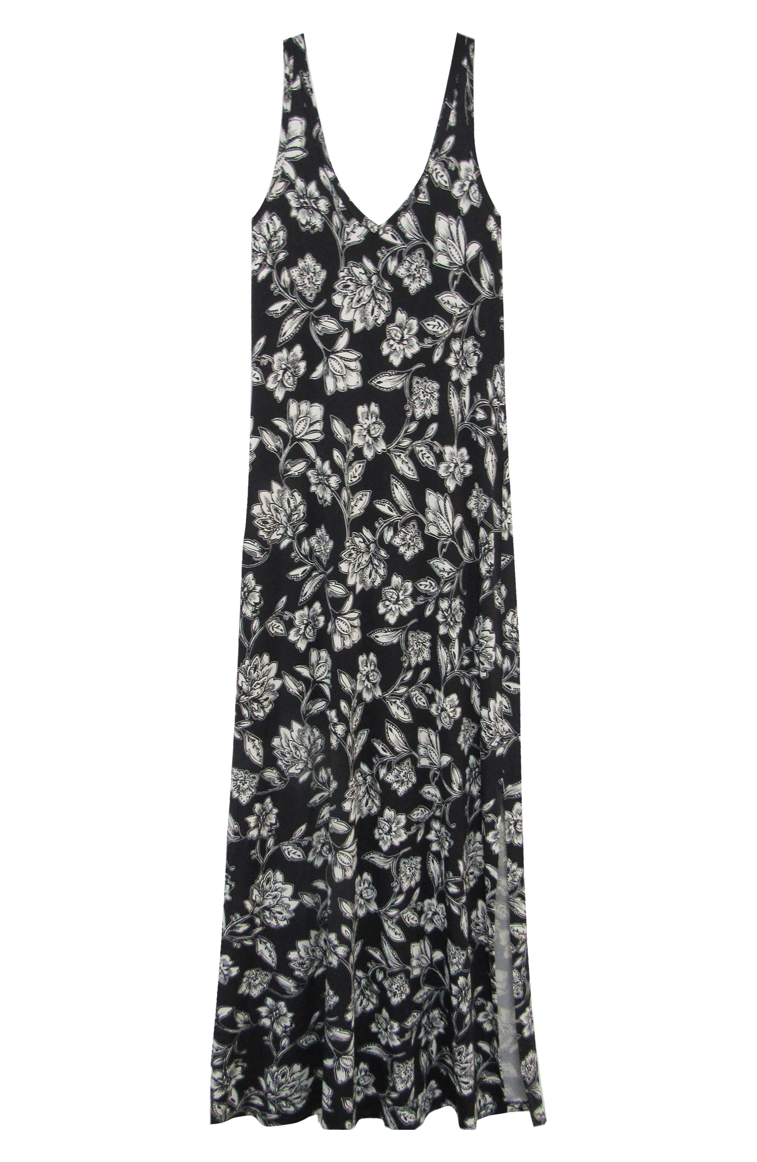KAREN KANE, Floral Print Maxi Dress, Alternate thumbnail 3, color, PRINT
