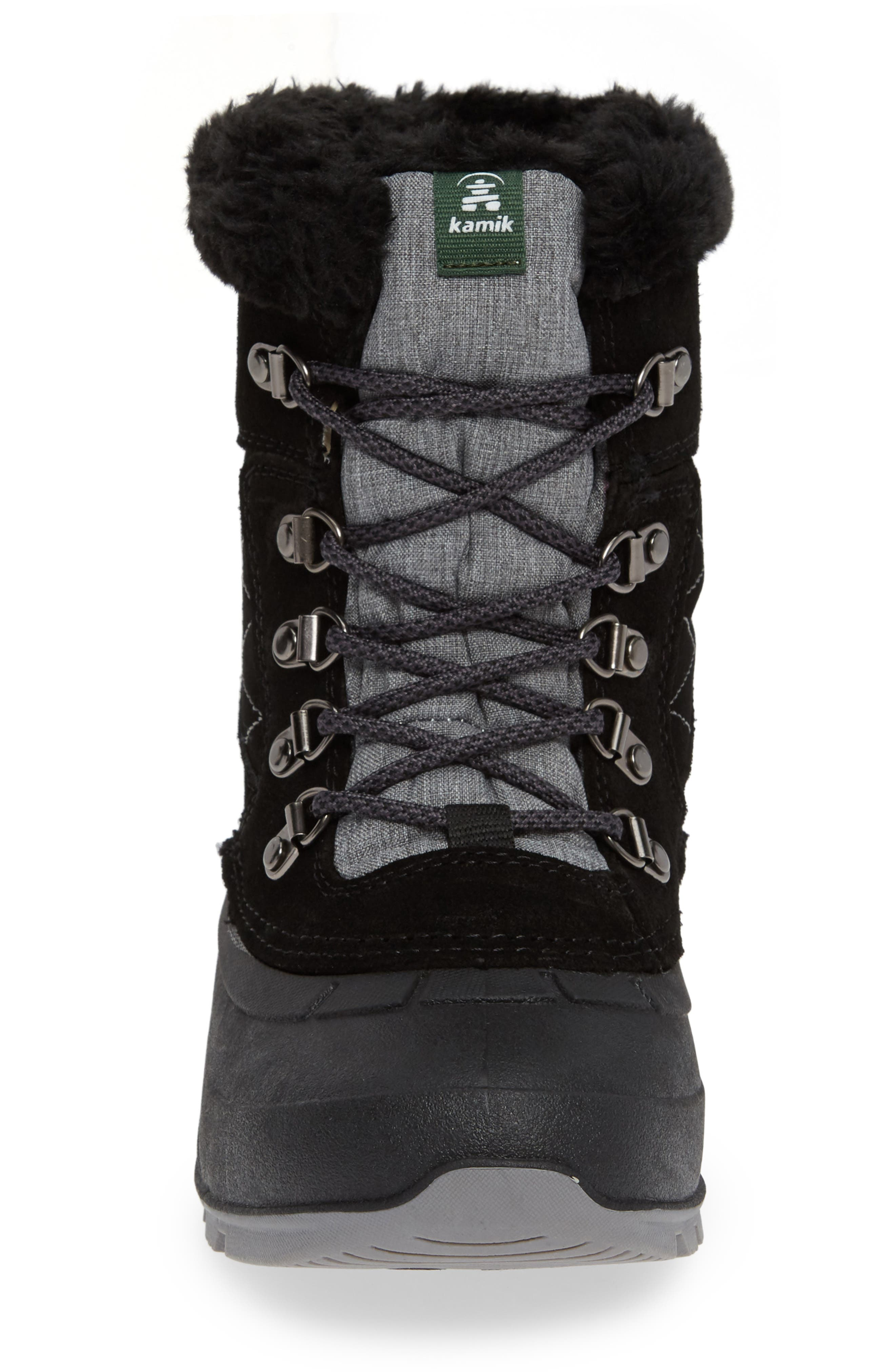 KAMIK, Snovalley1 Waterproof Thinsulate<sup>®</sup> Insulated Snow Boot, Alternate thumbnail 4, color, 001