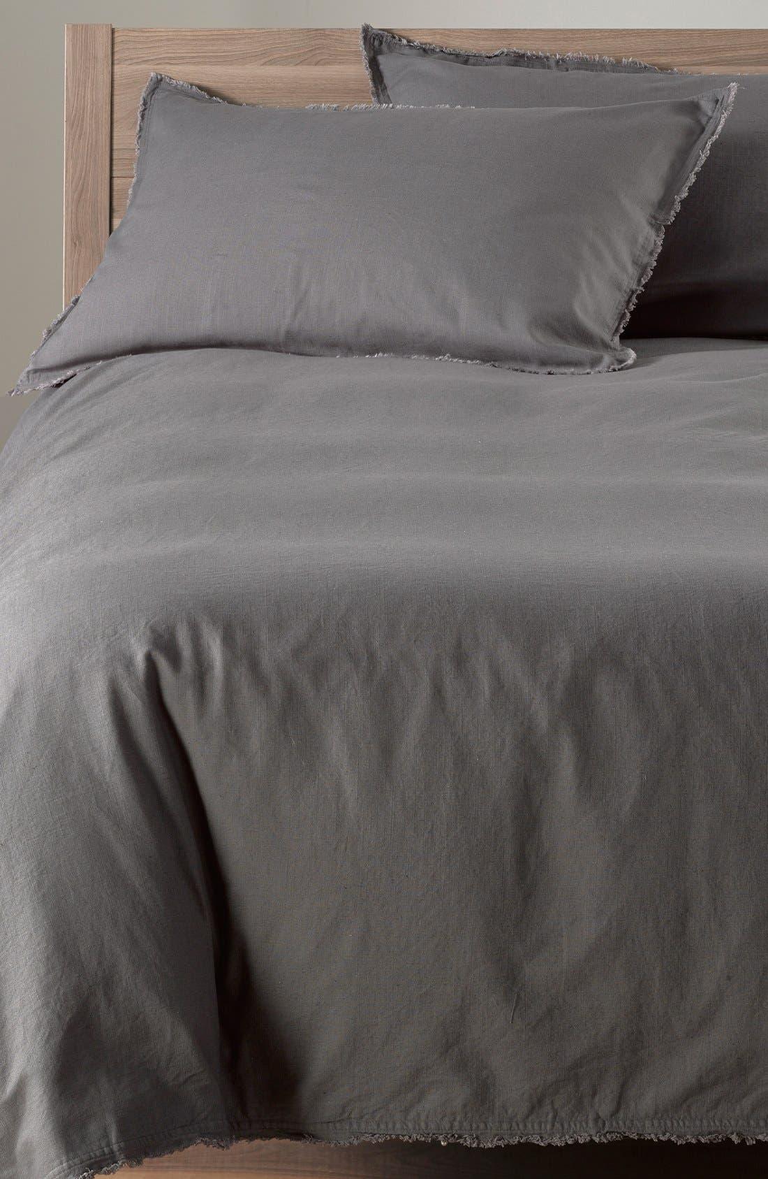 NORDSTROM AT HOME 'Terra' Cotton & Linen Duvet Cover, Main, color, 021