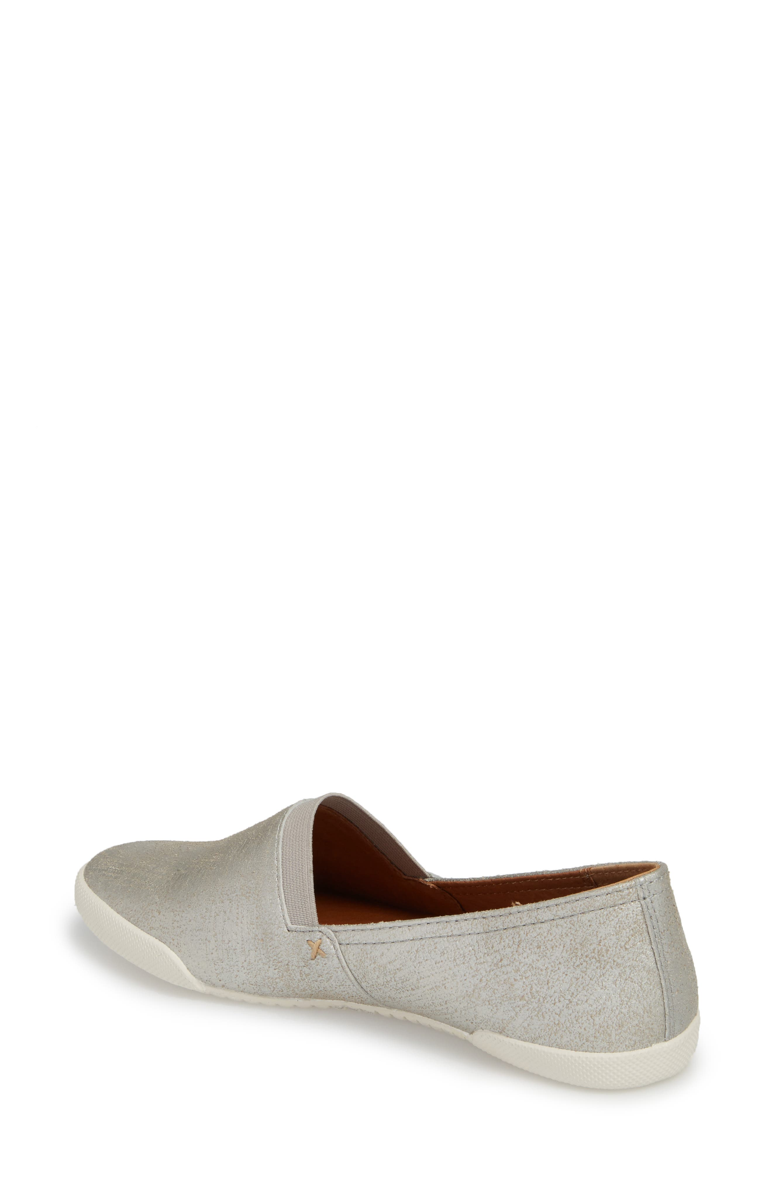 FRYE, 'Melanie' Slip-On, Alternate thumbnail 2, color, SILVER