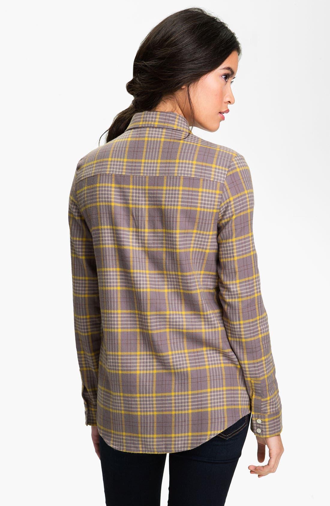 RUBBISH<SUP>®</SUP>, Plaid Cotton Shirt, Alternate thumbnail 3, color, 020