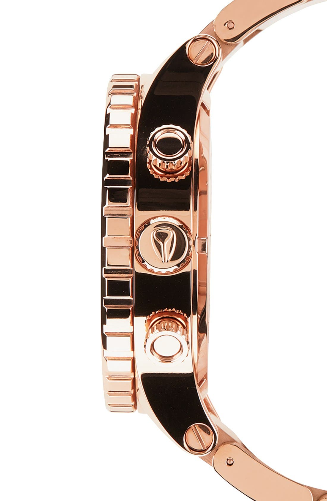 NIXON, 'The 51-30 Chrono' Watch, 51mm, Alternate thumbnail 5, color, ROSE GOLD
