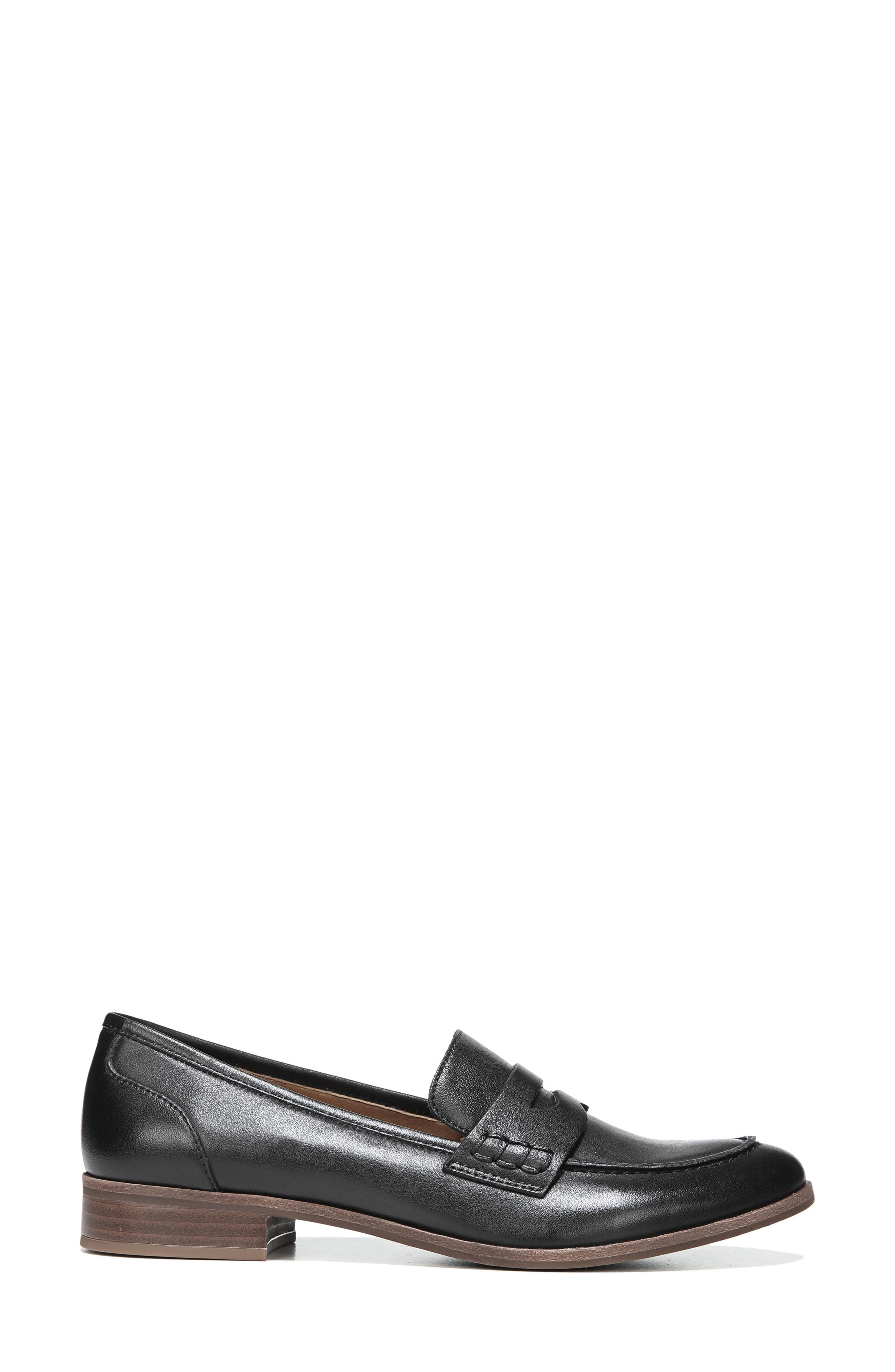 SARTO BY FRANCO SARTO, 'Jolette' Penny Loafer, Alternate thumbnail 3, color, BLACK LEATHER