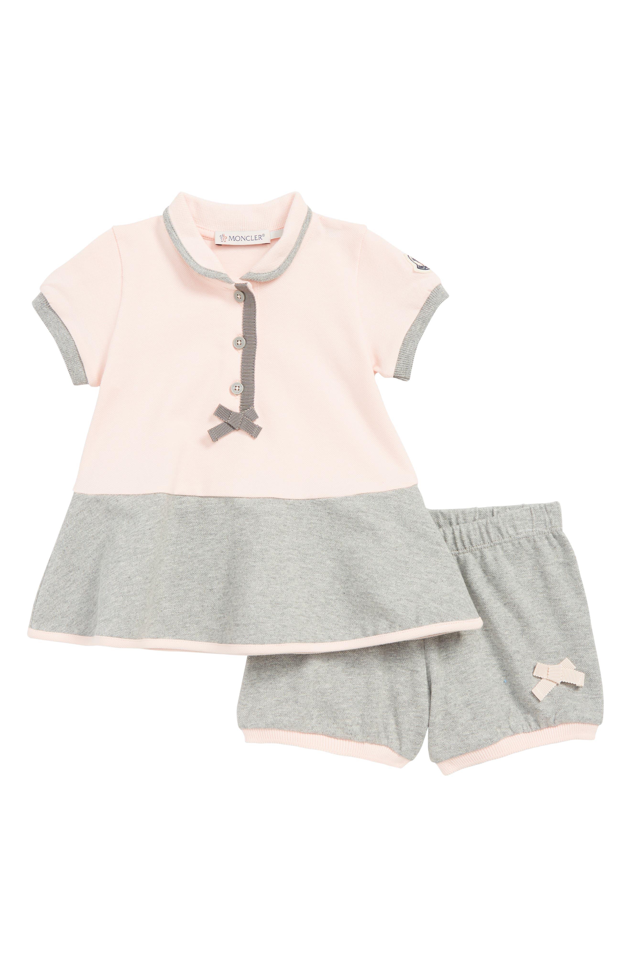 MONCLER Abito Knit Dress, Main, color, DARK PINK