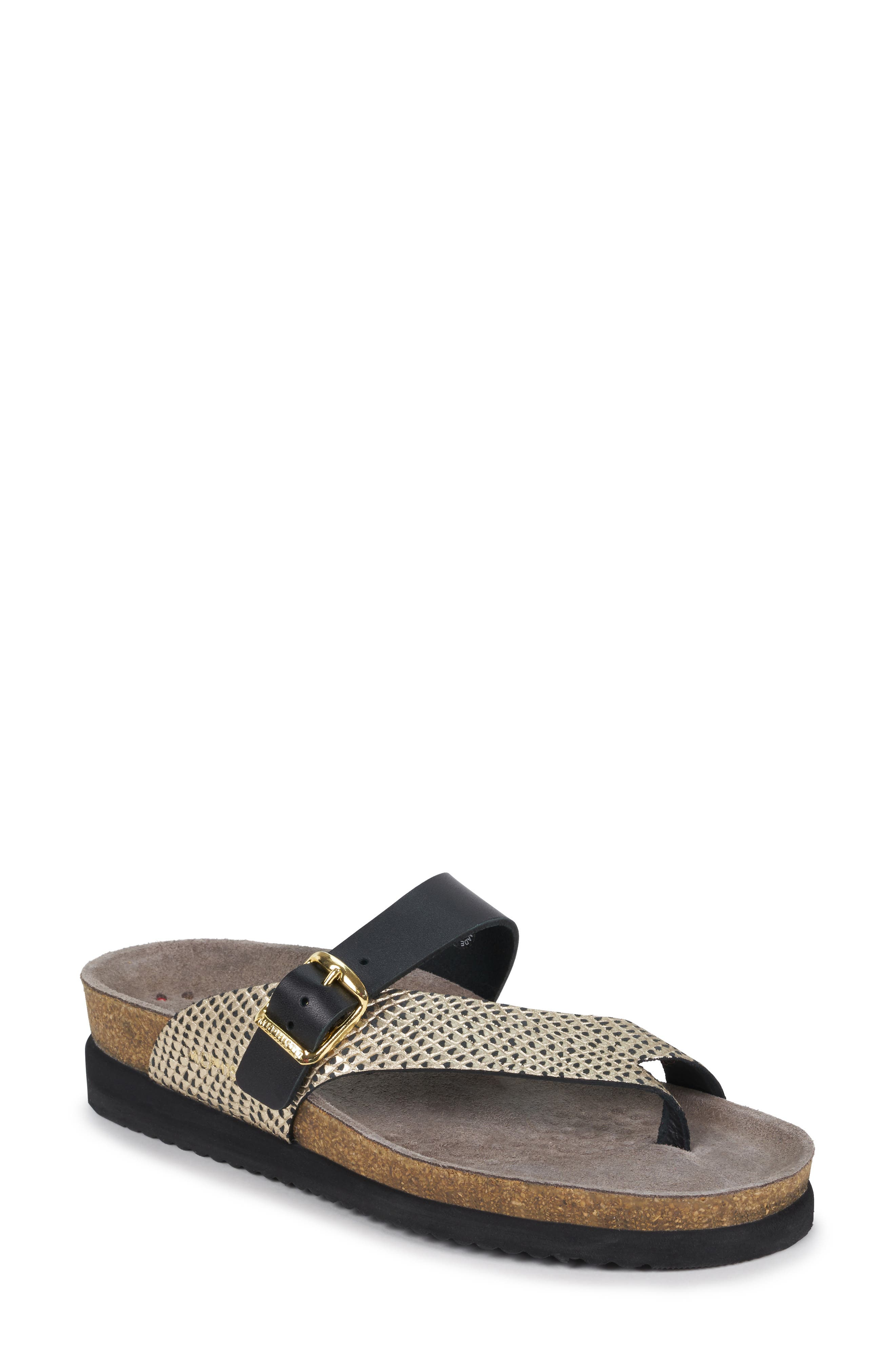 MEPHISTO Helen Mix Sandal, Main, color, BLACK/ GOLD