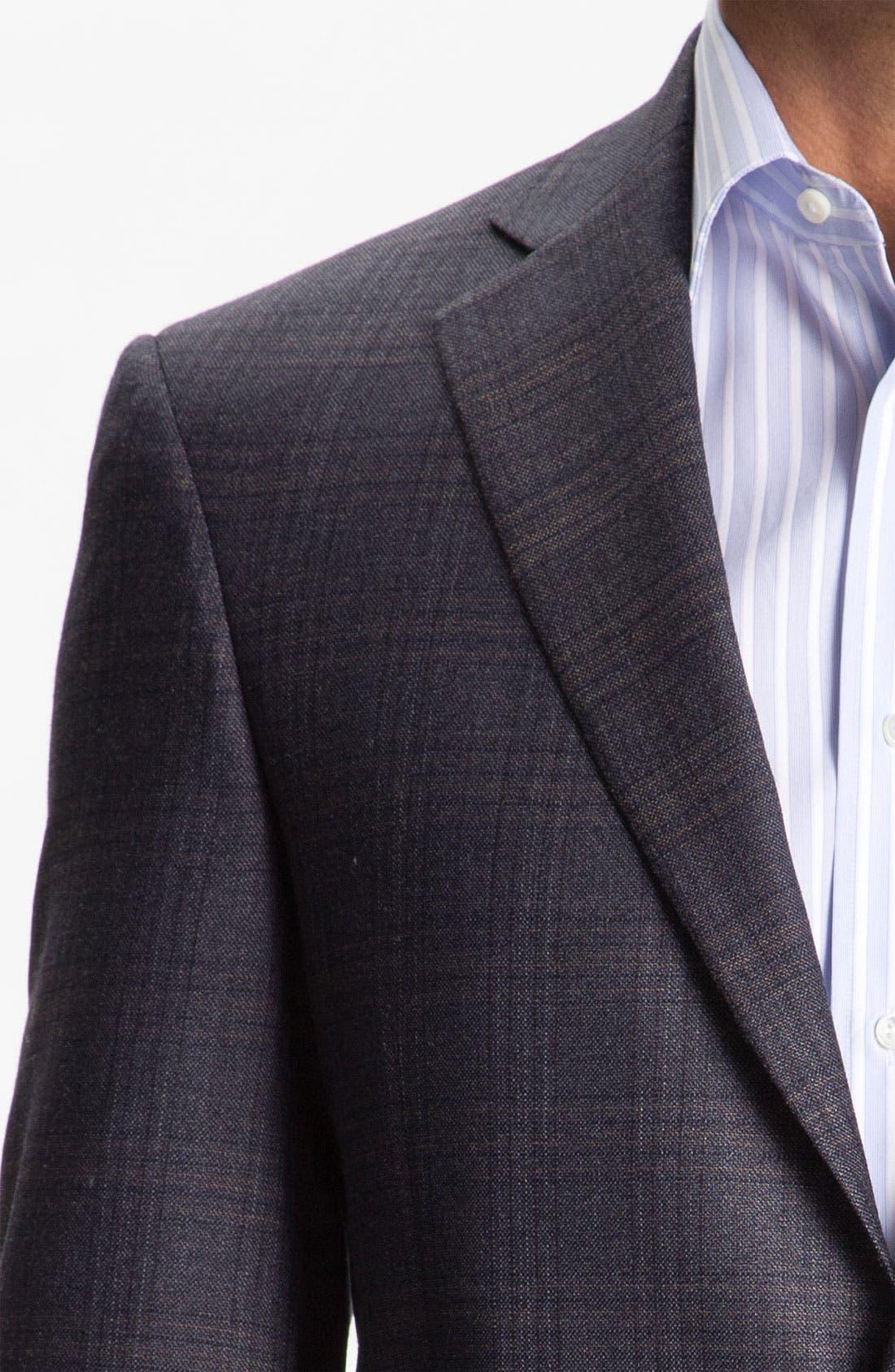 HART SCHAFFNER MARX, Plaid Sportcoat, Alternate thumbnail 3, color, 401