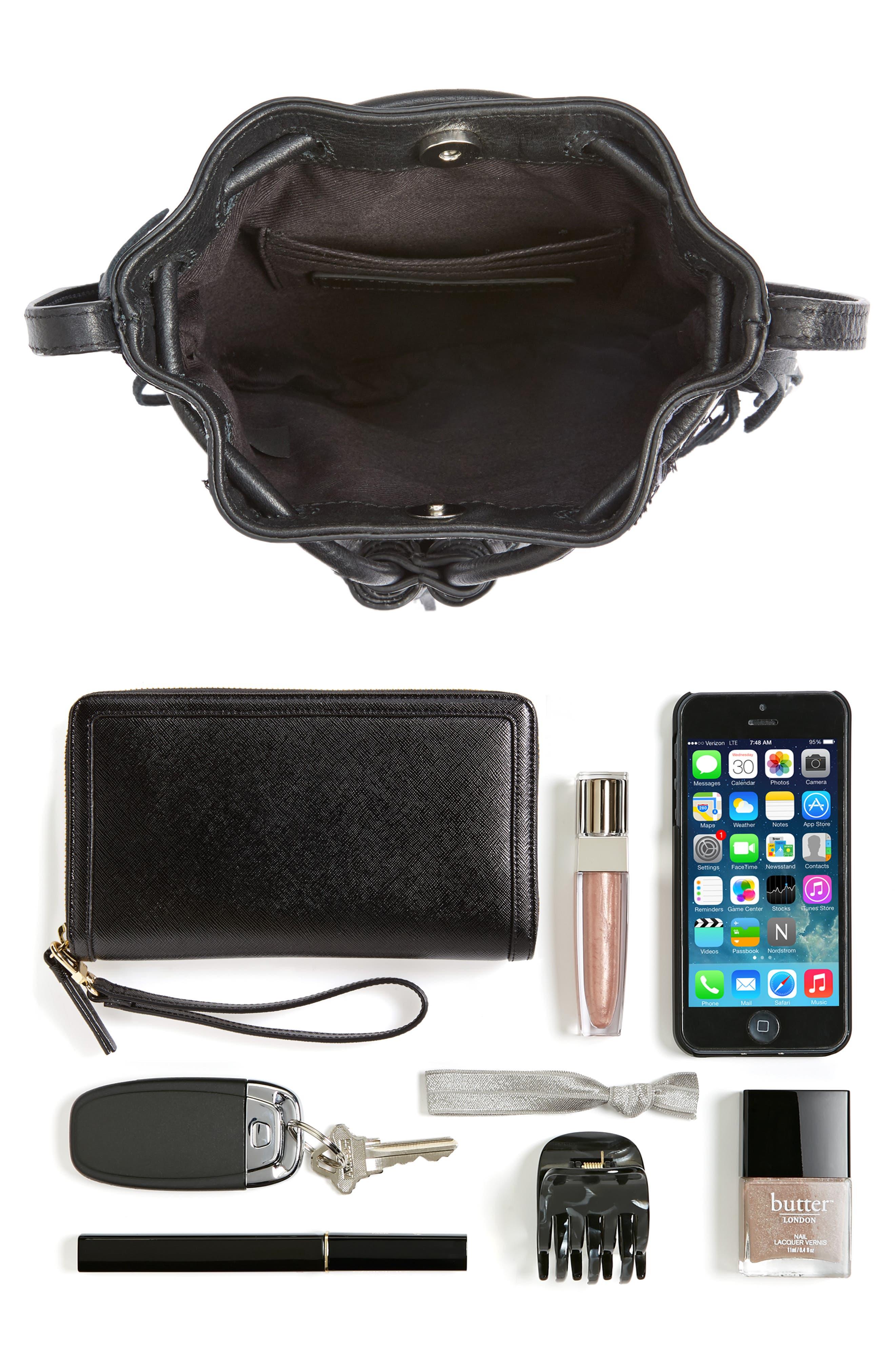 REBECCA MINKOFF, Revel Phone Crossbody Bag, Alternate thumbnail 8, color, 001