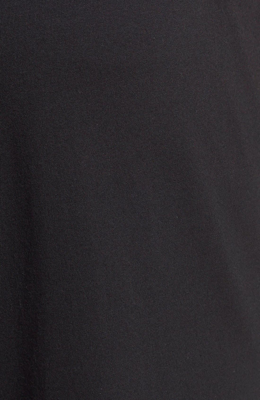 POLO RALPH LAUREN, Relaxed Fit Cotton Knit Lounge Jogger Pants, Alternate thumbnail 3, color, BLACK