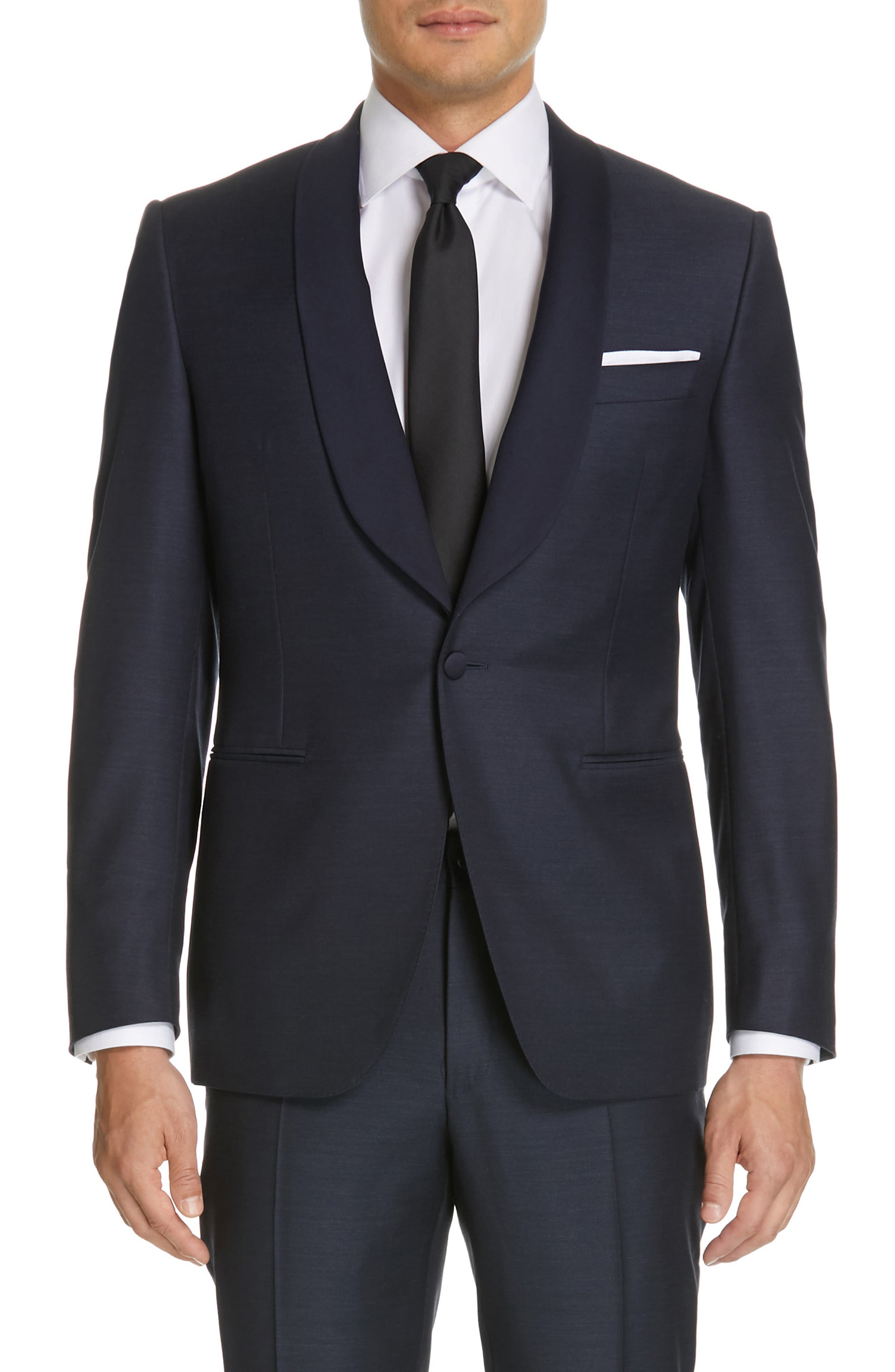 CANALI, Venieza Classic Fit Wool Tuxedo, Alternate thumbnail 5, color, NAVY