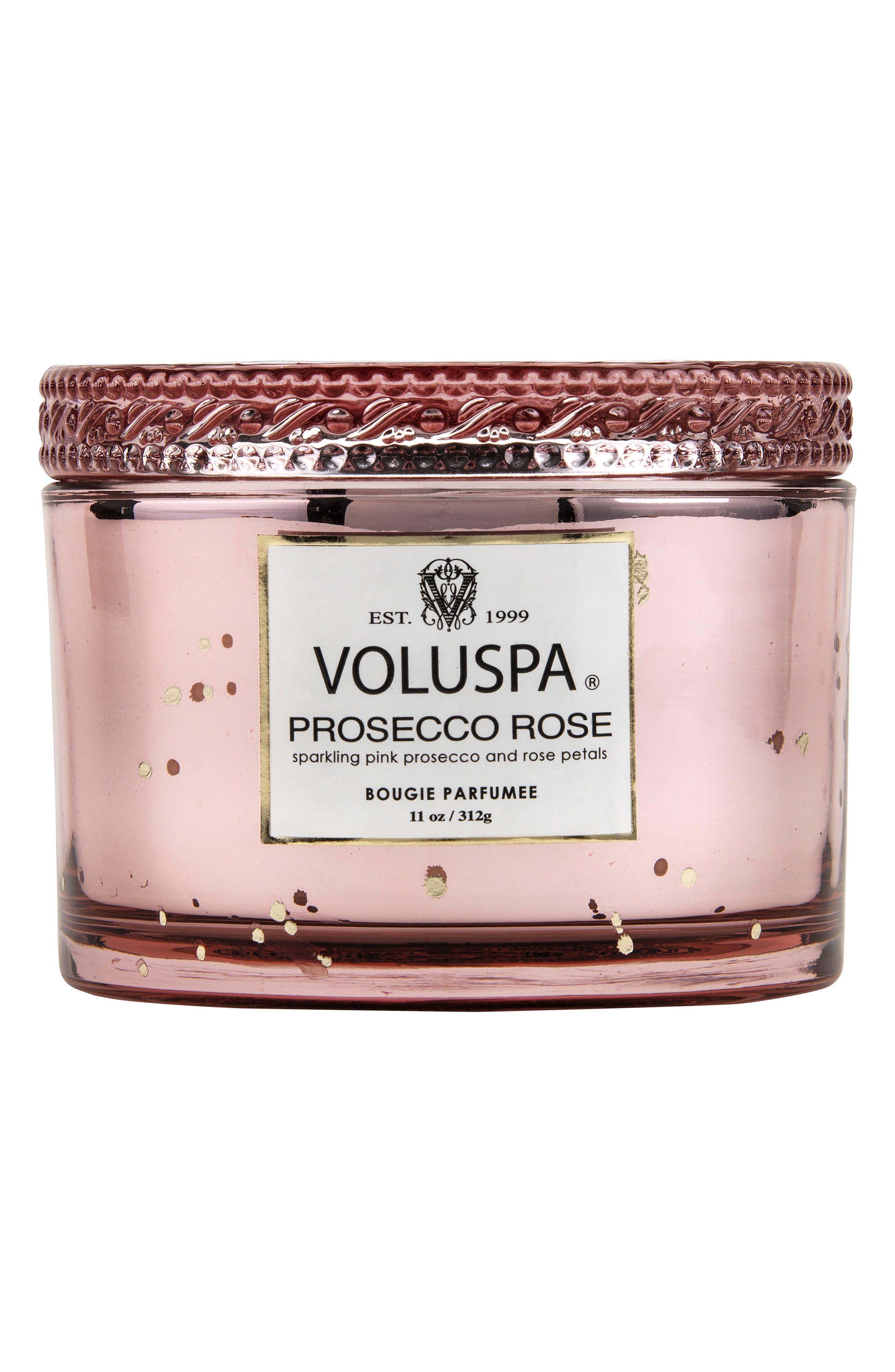 VOLUSPA, Vermeil Prosecco Rose Corta Maison Candle, Main thumbnail 1, color, NO COLOR