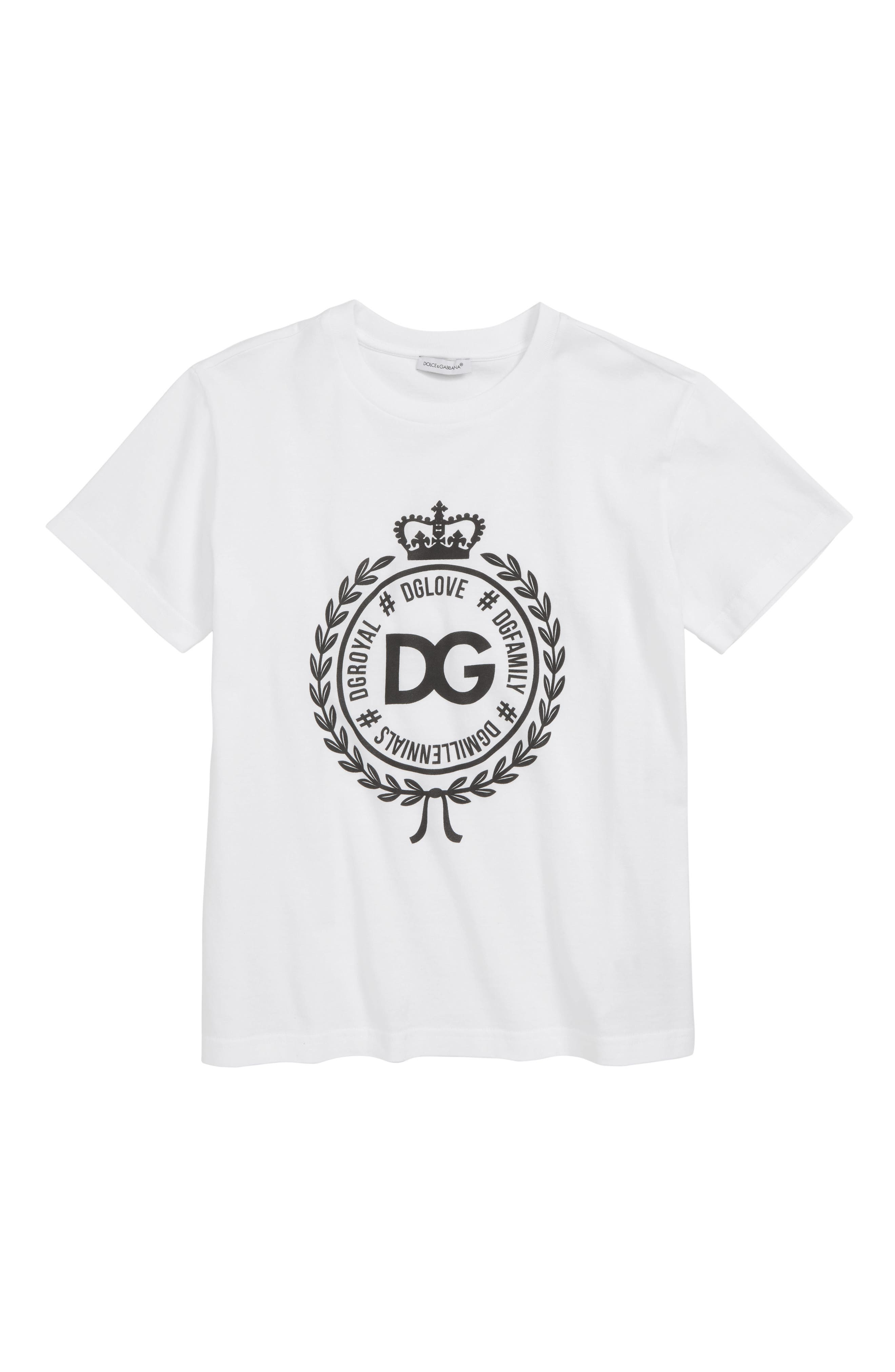 DOLCE&GABBANA, Manica Corta Graphic T-Shirt, Main thumbnail 1, color, BIANCO OTTICO