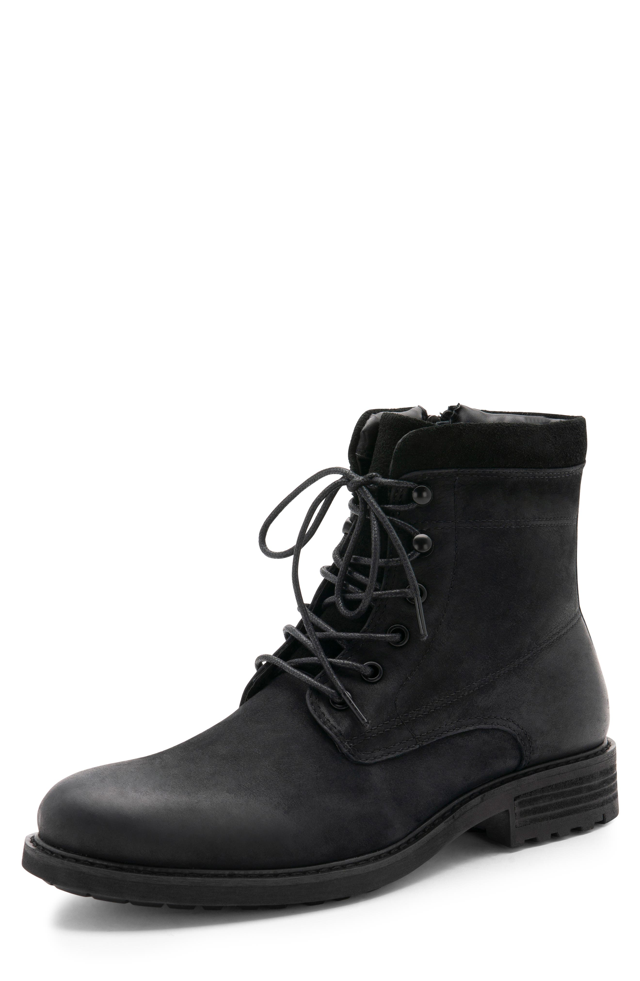 BLONDO, Patton Waterproof Plain Toe Boot, Alternate thumbnail 7, color, BLACK NUBUCK