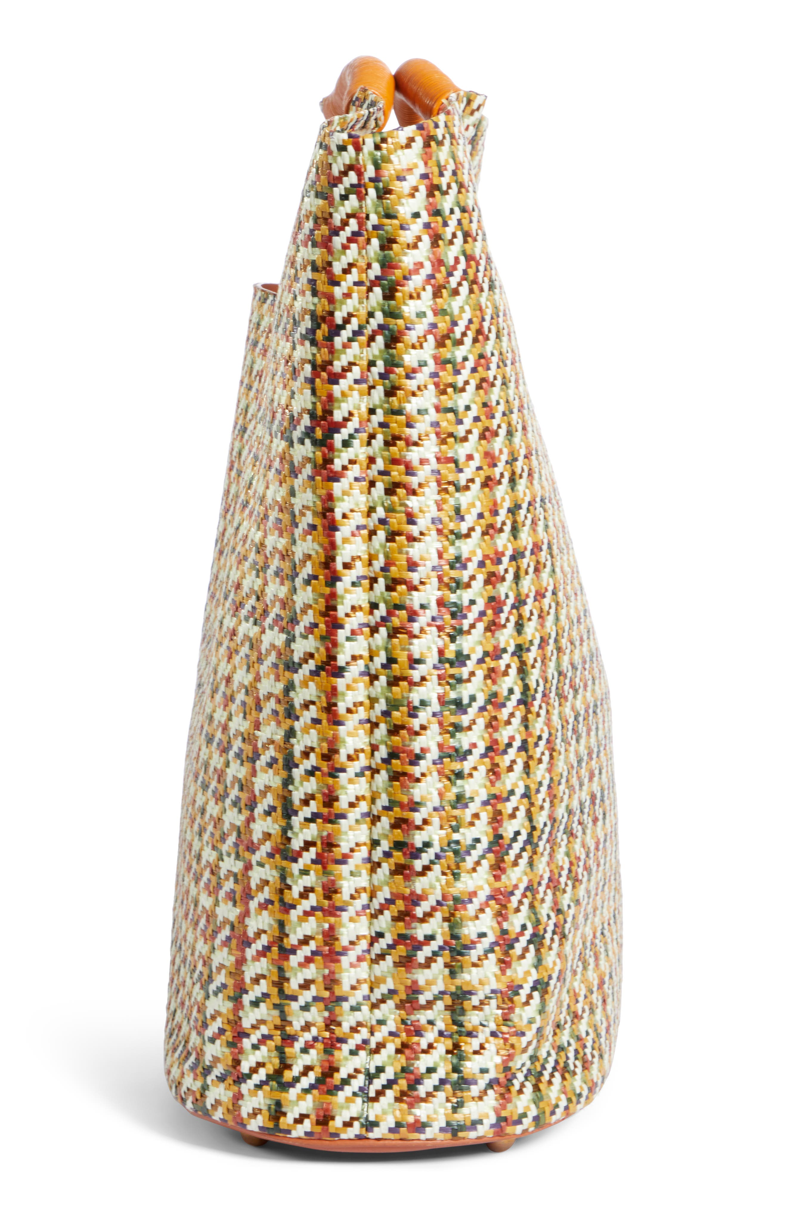 SIMON MILLER, Large Birch Houndstooth Tote, Alternate thumbnail 5, color, 200