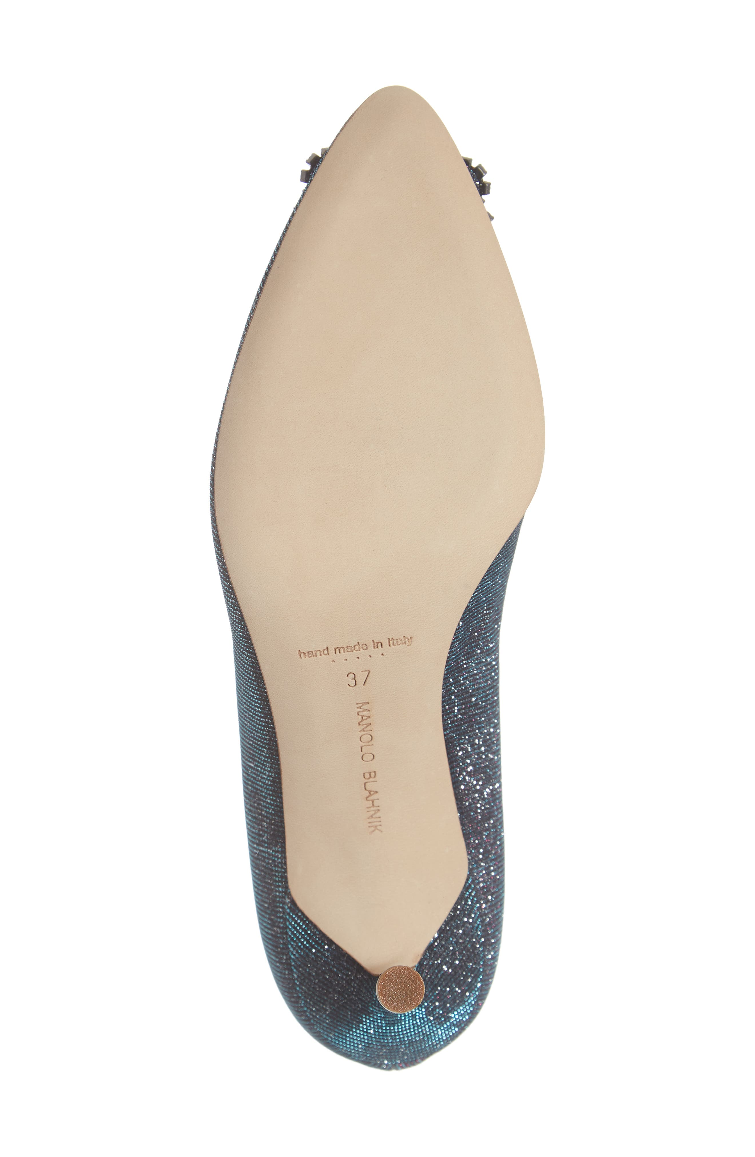 MANOLO BLAHNIK, Hangisi Pump, Alternate thumbnail 6, color, MIDNIGHT BLUE