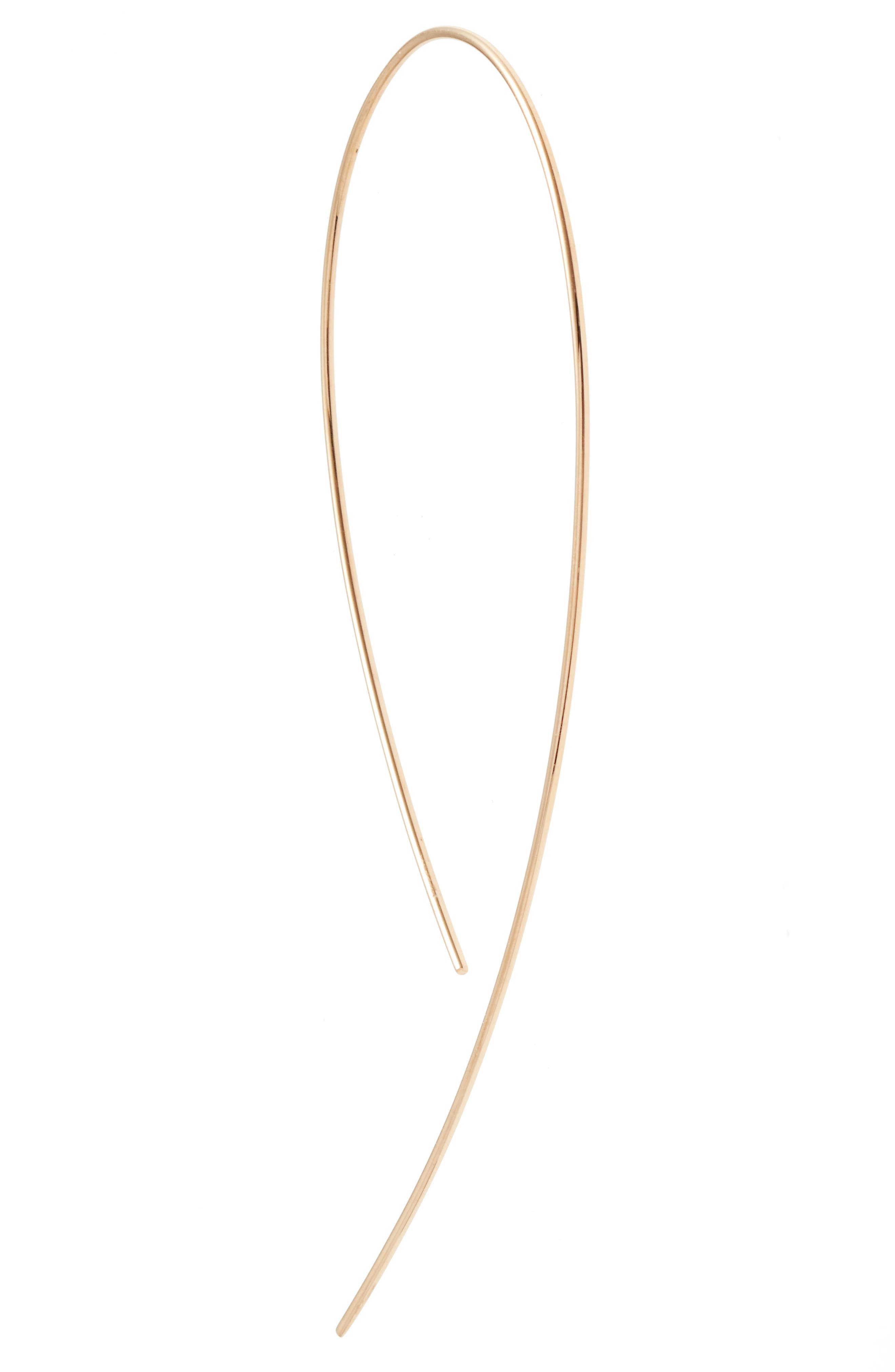 LANA JEWELRY, 'Hooked on Hoop' Earrings, Alternate thumbnail 4, color, YELLOW GOLD