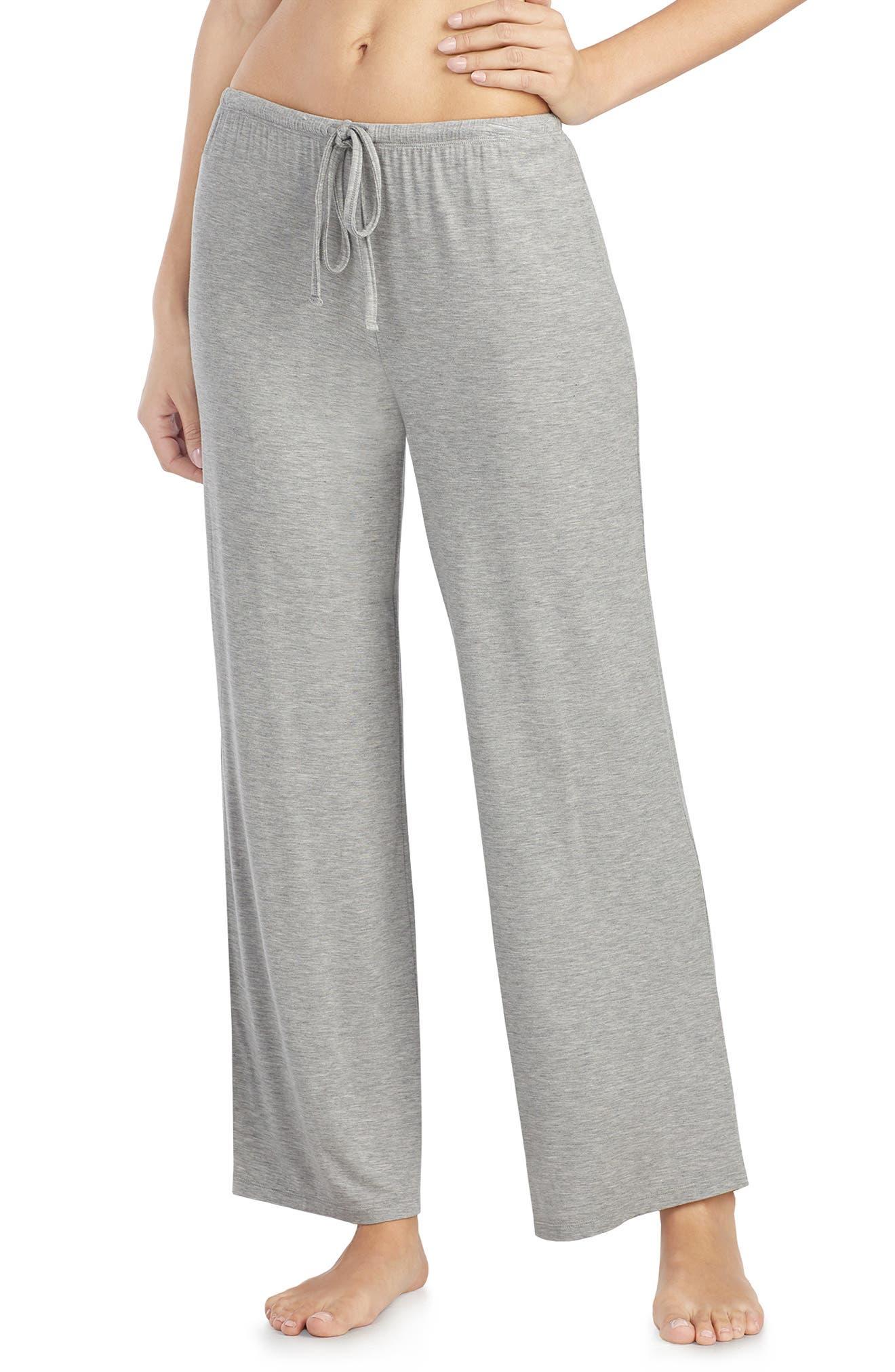 LAUREN RALPH LAUREN, Pajama Pants, Main thumbnail 1, color, GREY
