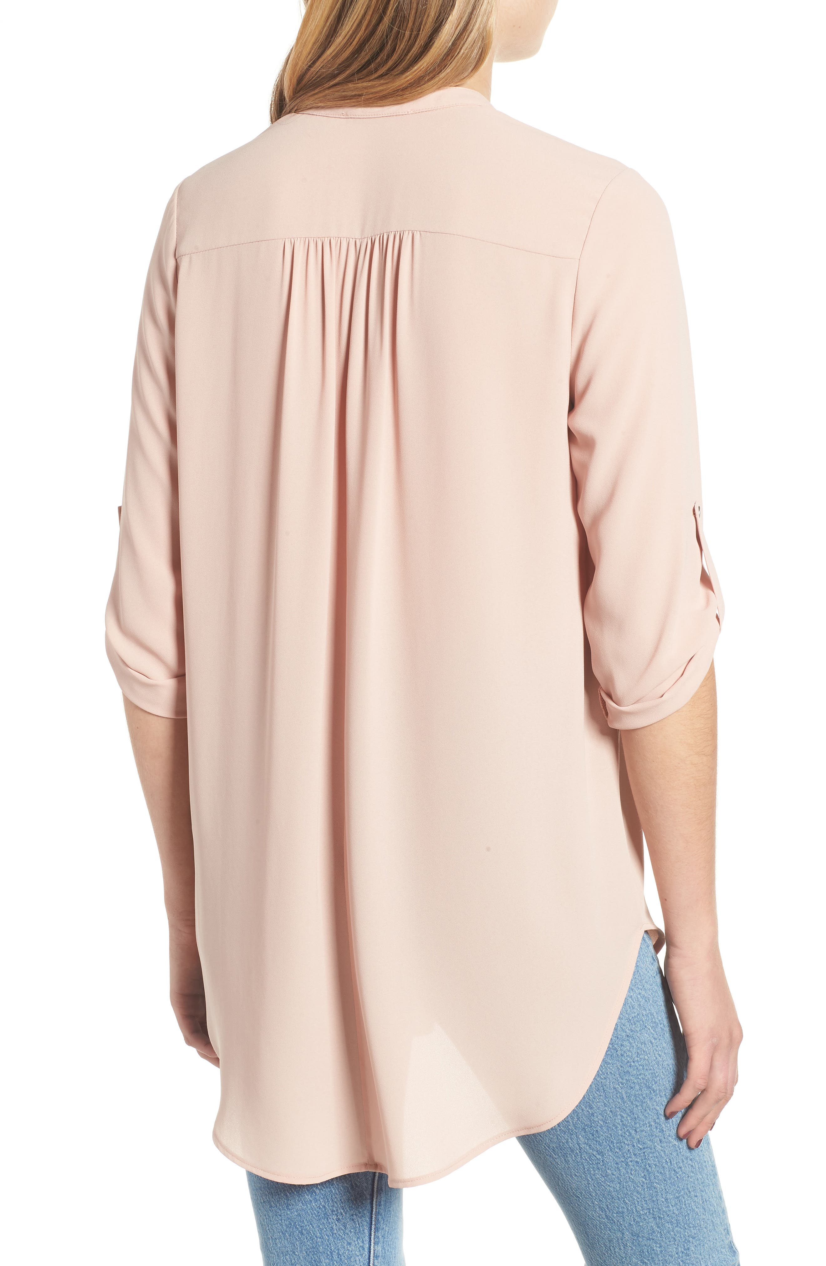 ---, Perfect Roll Tab Sleeve Tunic, Alternate thumbnail 2, color, 218