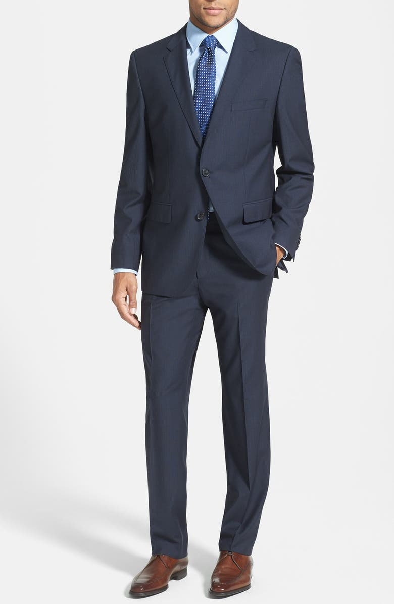 b365e47b8 ZZDNUHUGO BOSS BOSS HUGO BOSS 'James/Sharp' Trim Fit Navy Stripe Wool Suit