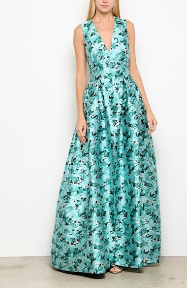 Brooke Floral Print Gown, video thumbnail