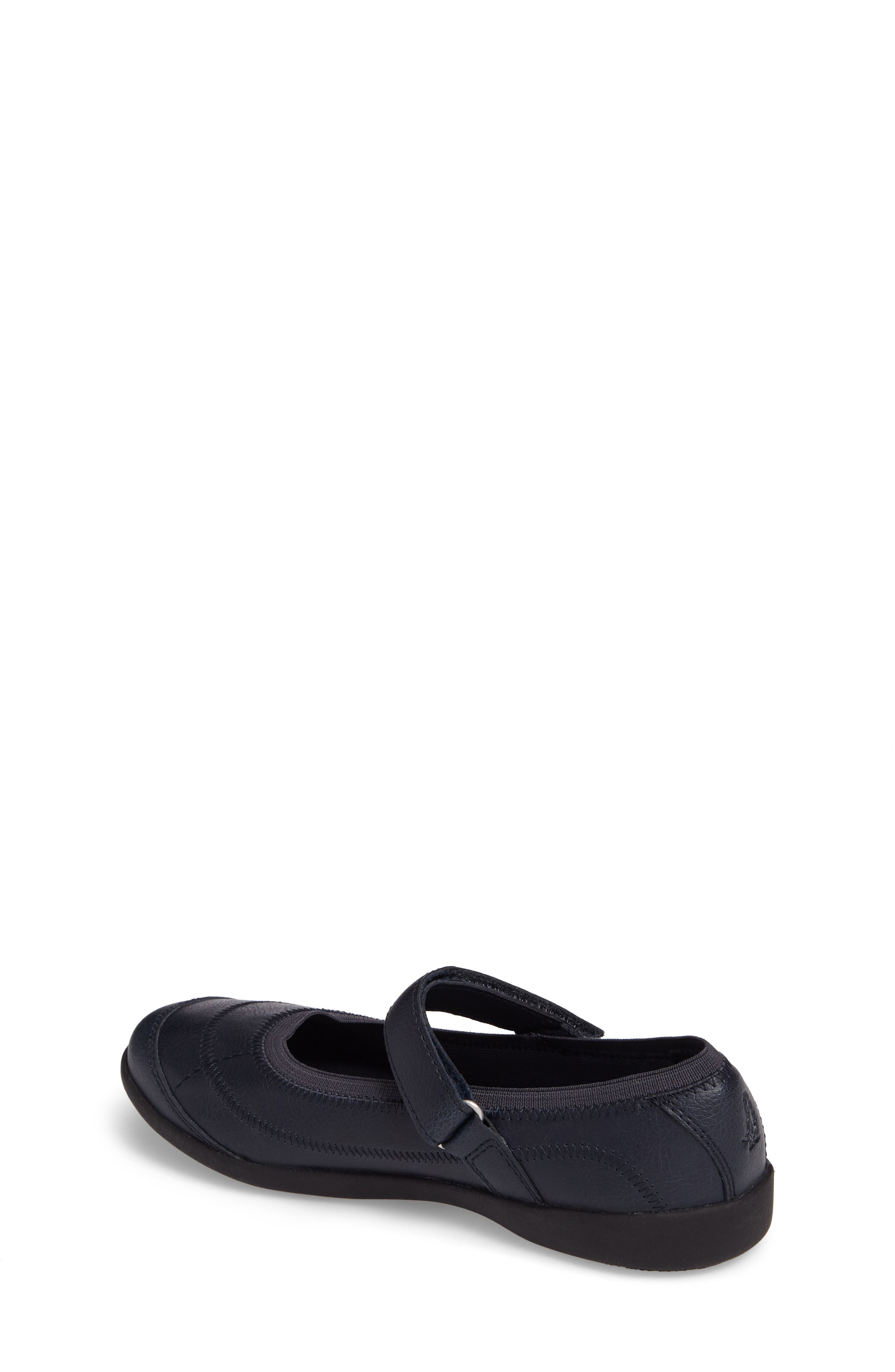 HUSH PUPPIES<SUP>®</SUP>, Reese Mary Jane Flat, Alternate thumbnail 2, color, NAVY LEATHER