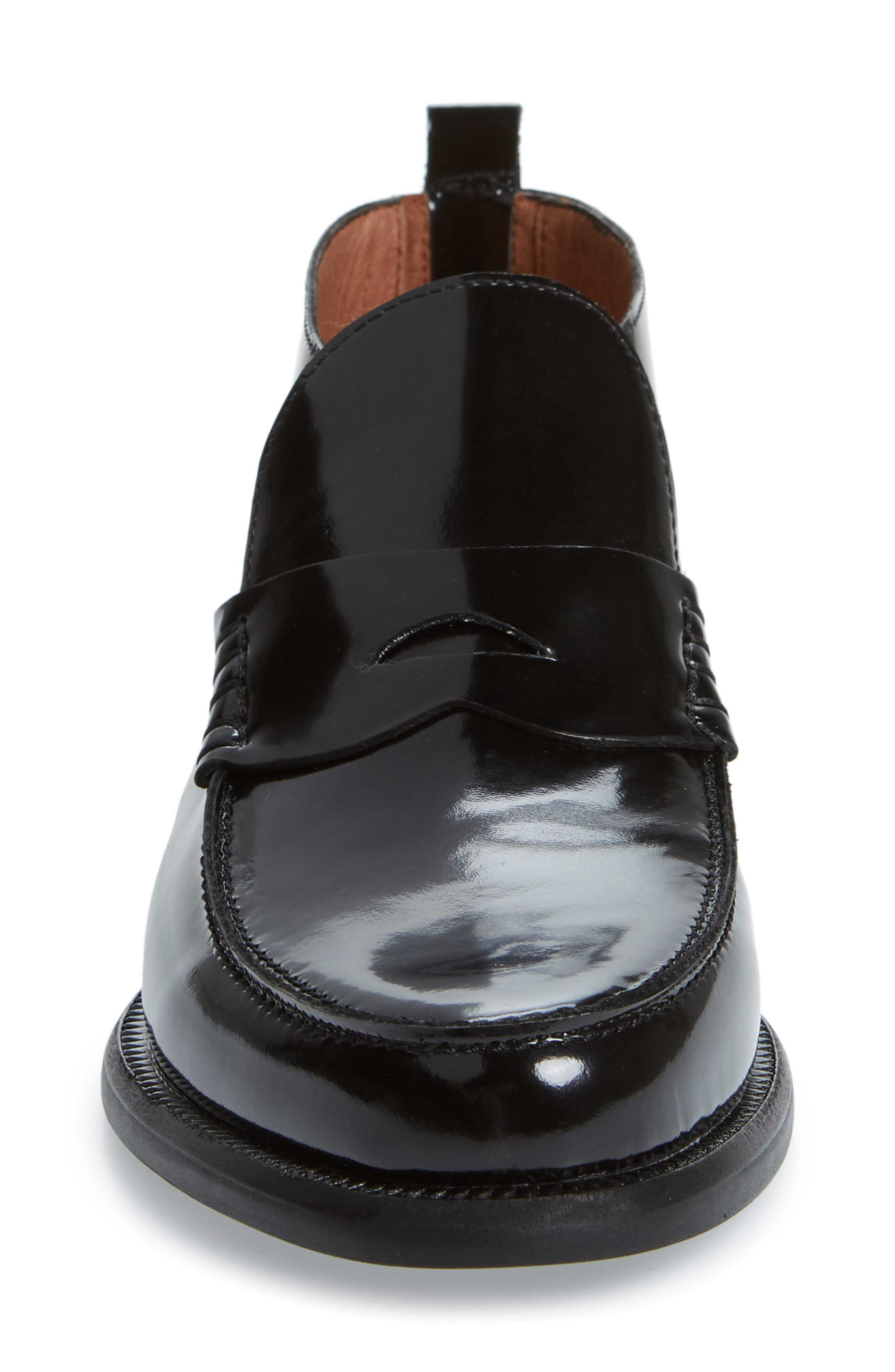 JEFFREY CAMPBELL, Marquis Loafer, Alternate thumbnail 4, color, BLACK LEATHER