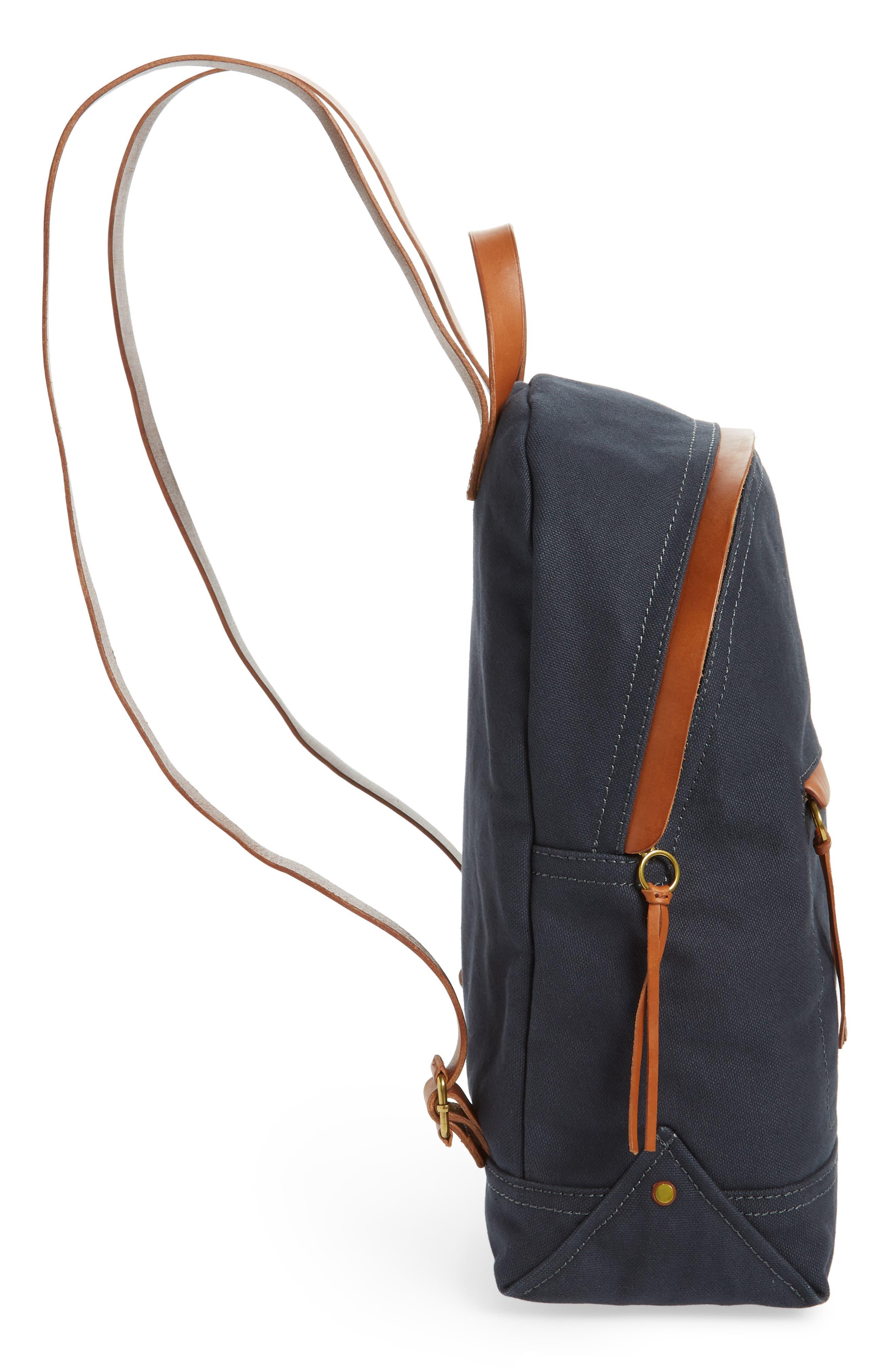 MADEWELL, The Charleston Backpack, Alternate thumbnail 6, color, BLACK SEA