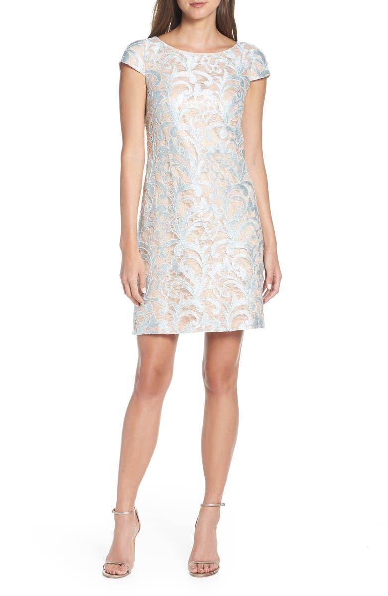 Eliza J Dresses LACE SHIFT DRESS