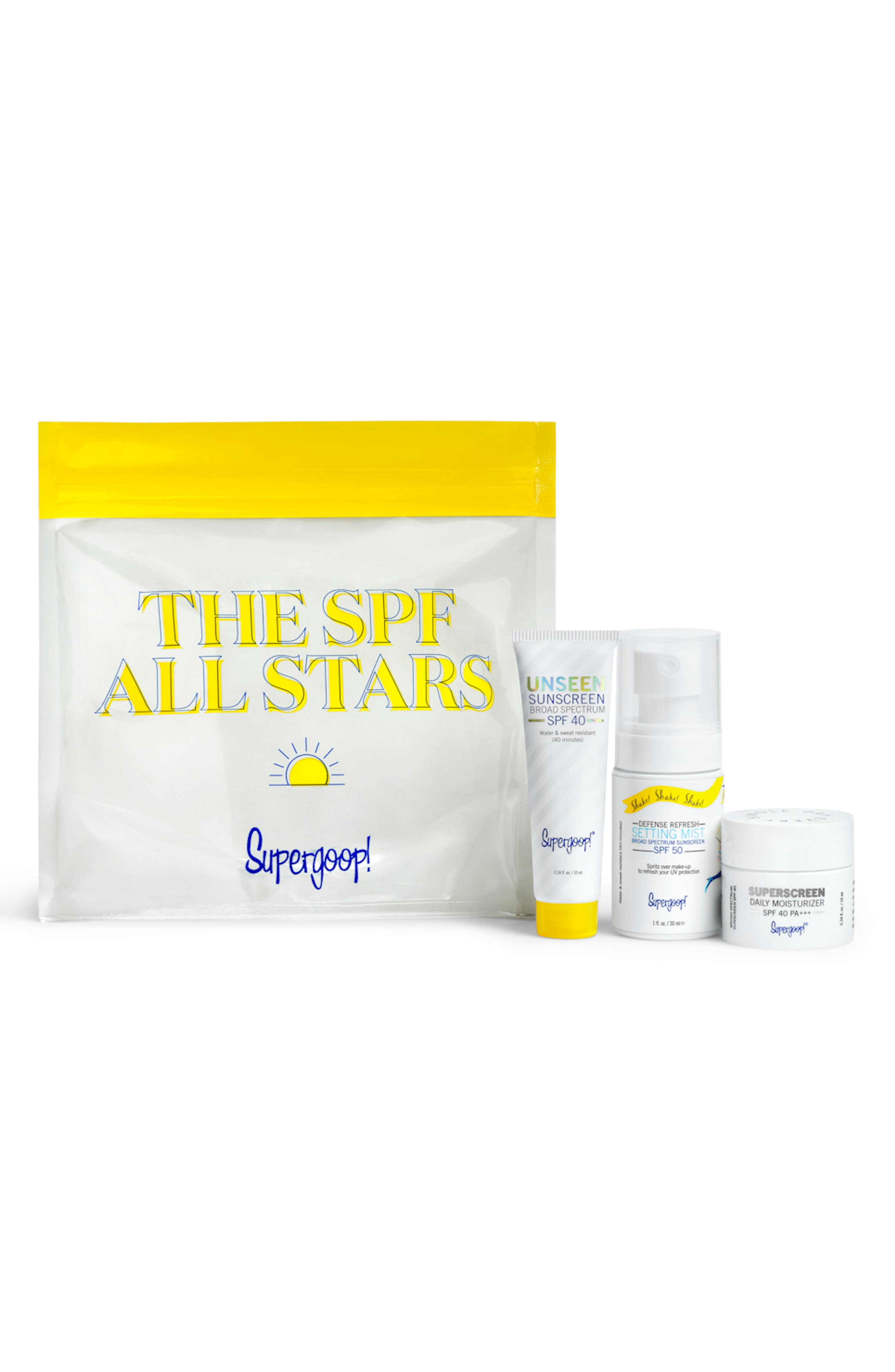 SUPERGOOP!<SUP>®</SUP>, Supergoop! SPF All Stars Set, Main thumbnail 1, color, NO COLOR