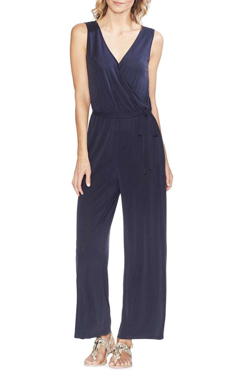 Vince Camuto Suits FAUX WRAP JUMPSUIT