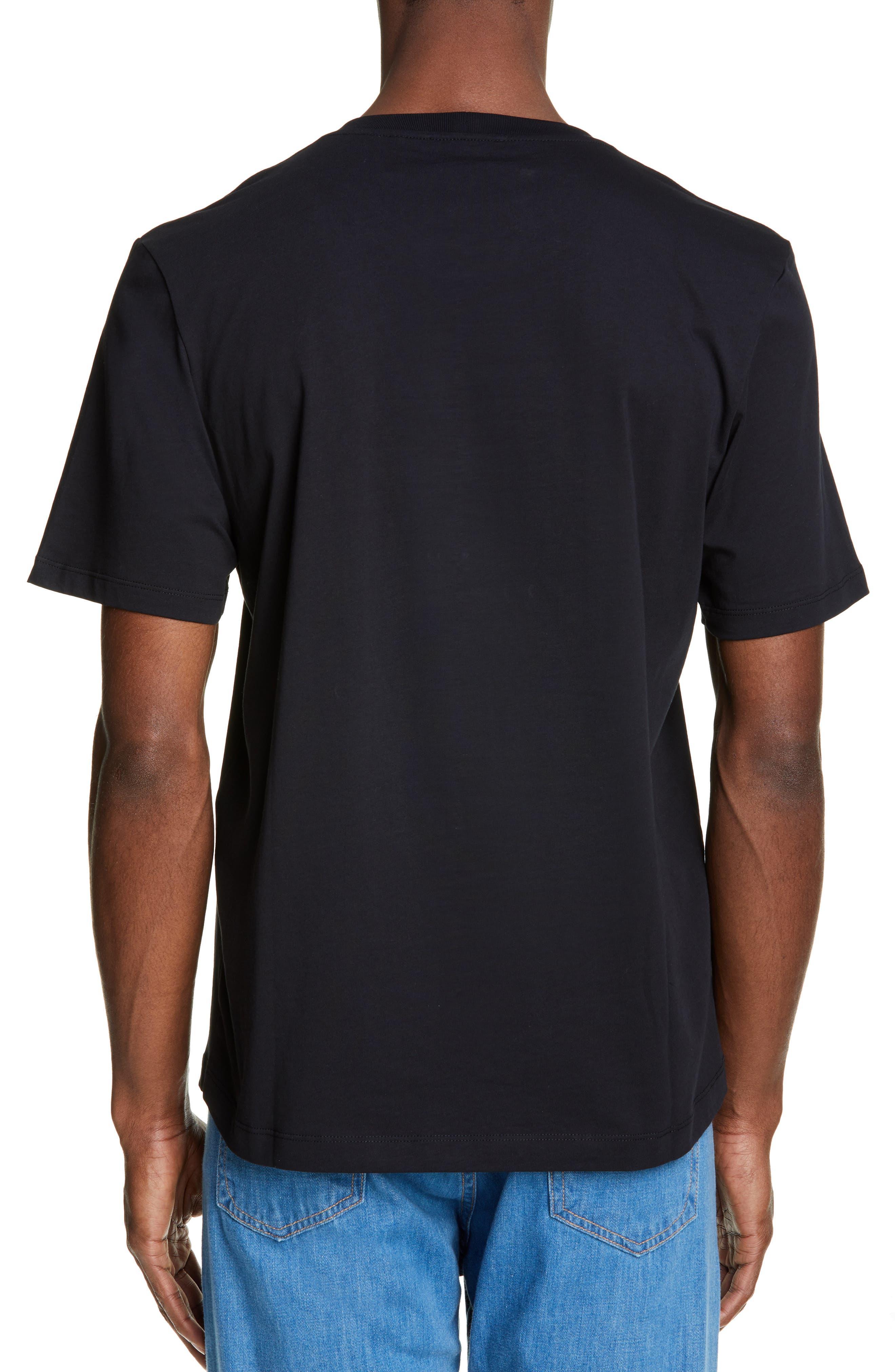 HELMUT LANG, Stacked Logo T-Shirt, Alternate thumbnail 2, color, BLACK BASALT