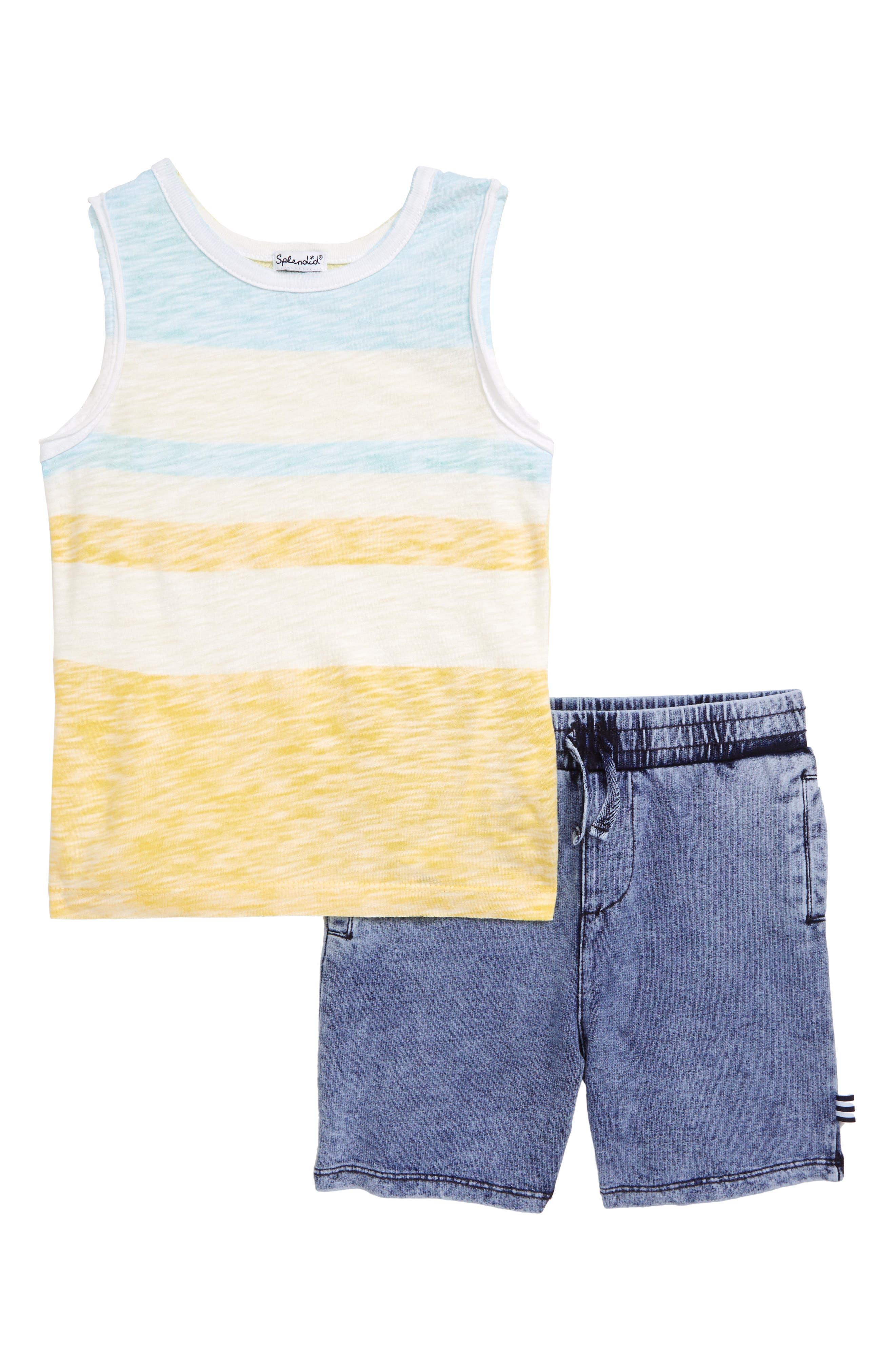 Boys Splendid Muscle Shirt  Shorts Set