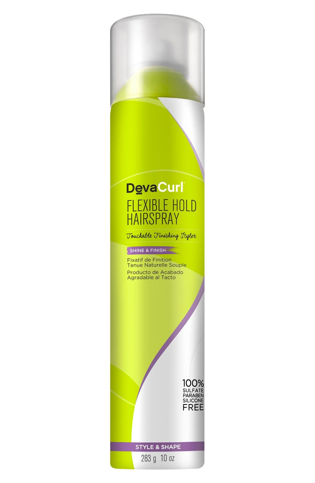DEVACURL Flexible Hold Hairspray Touchable Finishing Styler, Main, color, NO COLOR