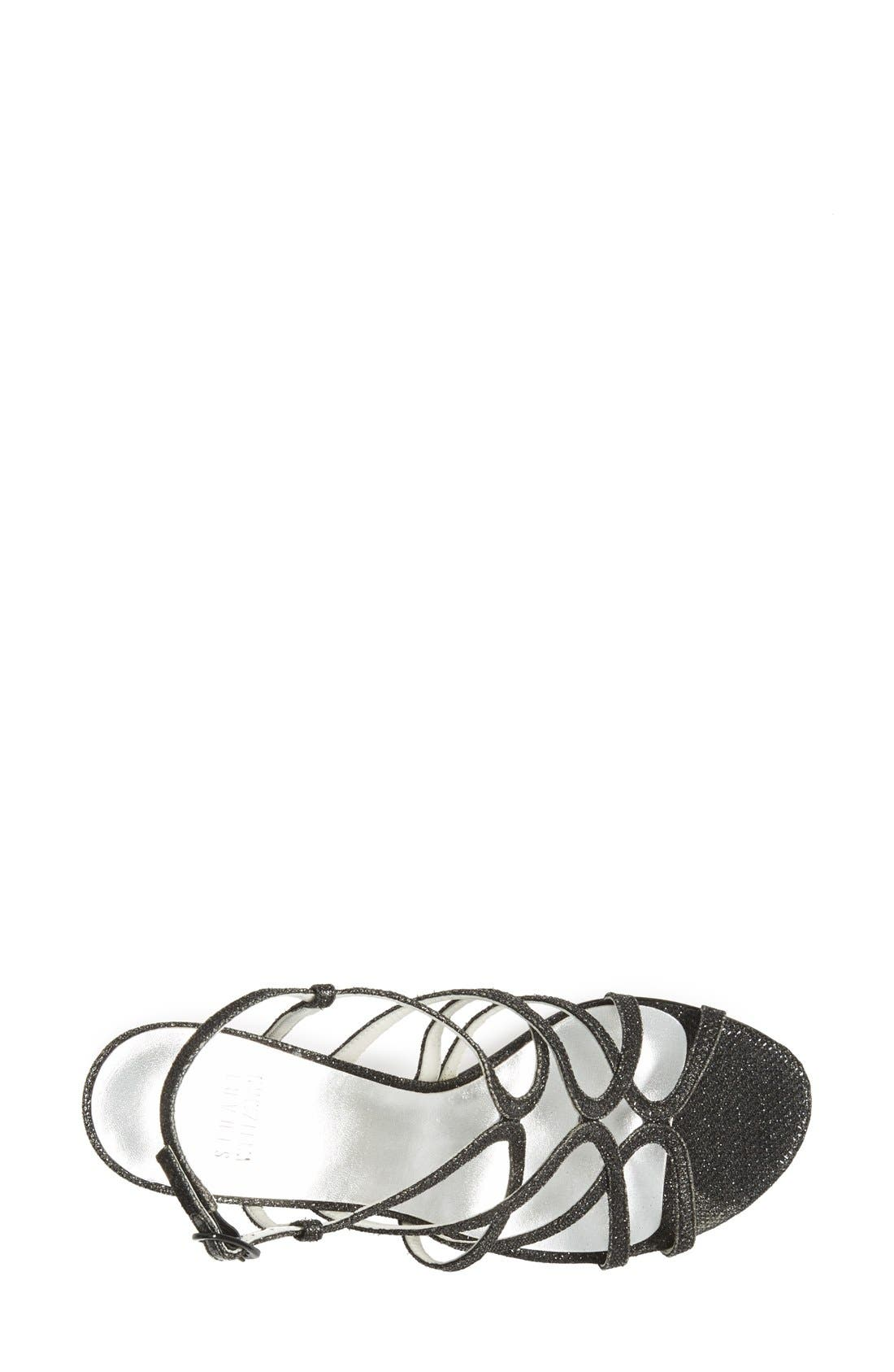 STUART WEITZMAN, 'Turningup' Sandal, Alternate thumbnail 3, color, 004