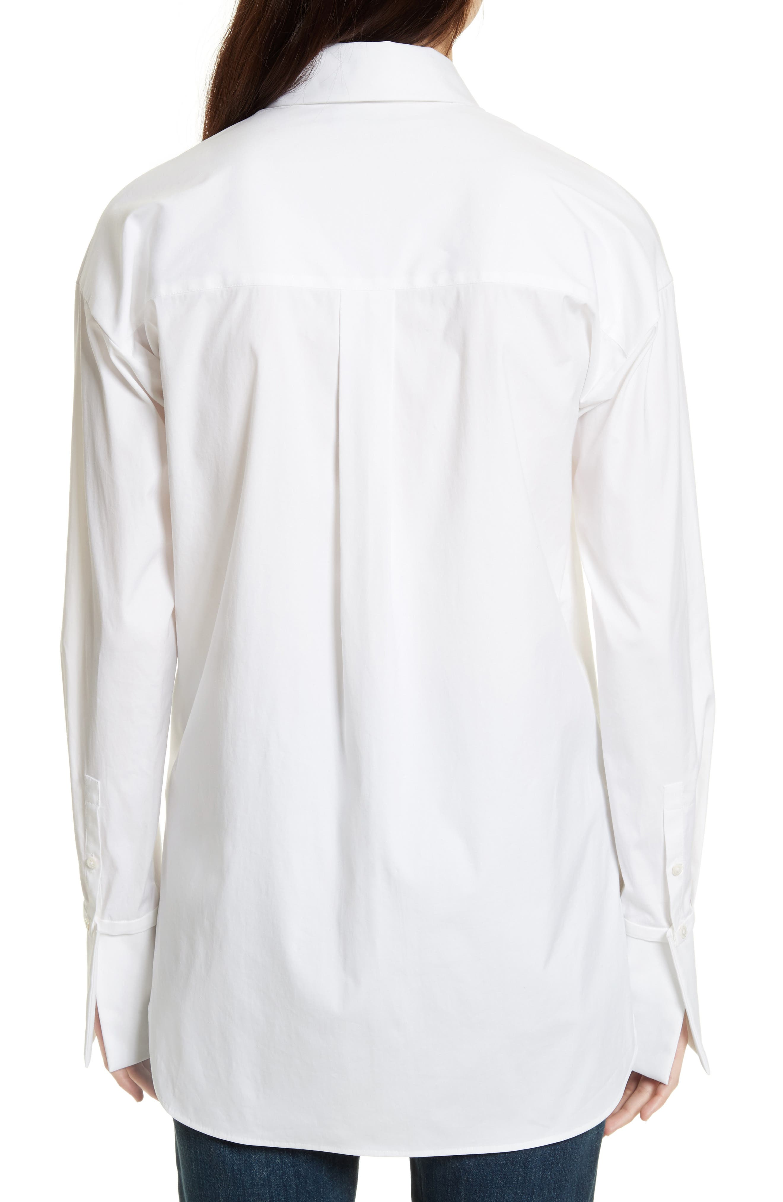 THEORY, Cotton Poplin Boy Tunic, Alternate thumbnail 2, color, 100