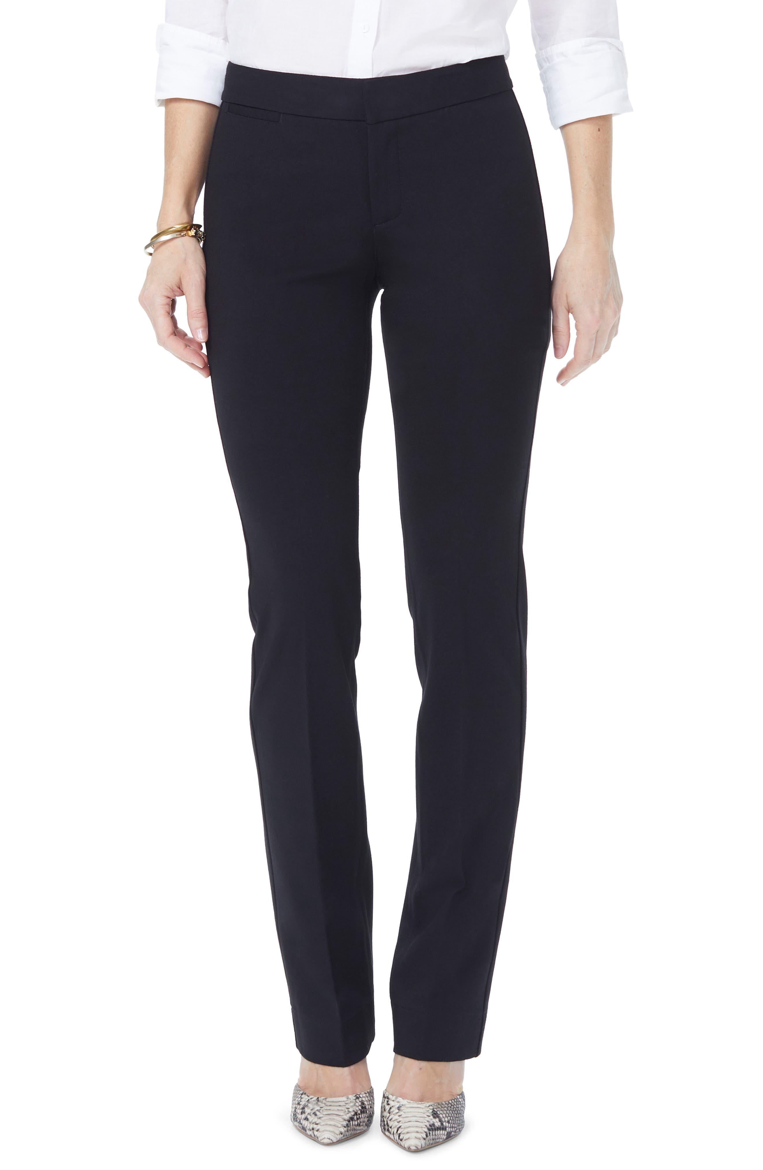 NYDJ, Stretch Knit Trousers, Main thumbnail 1, color, BLACK